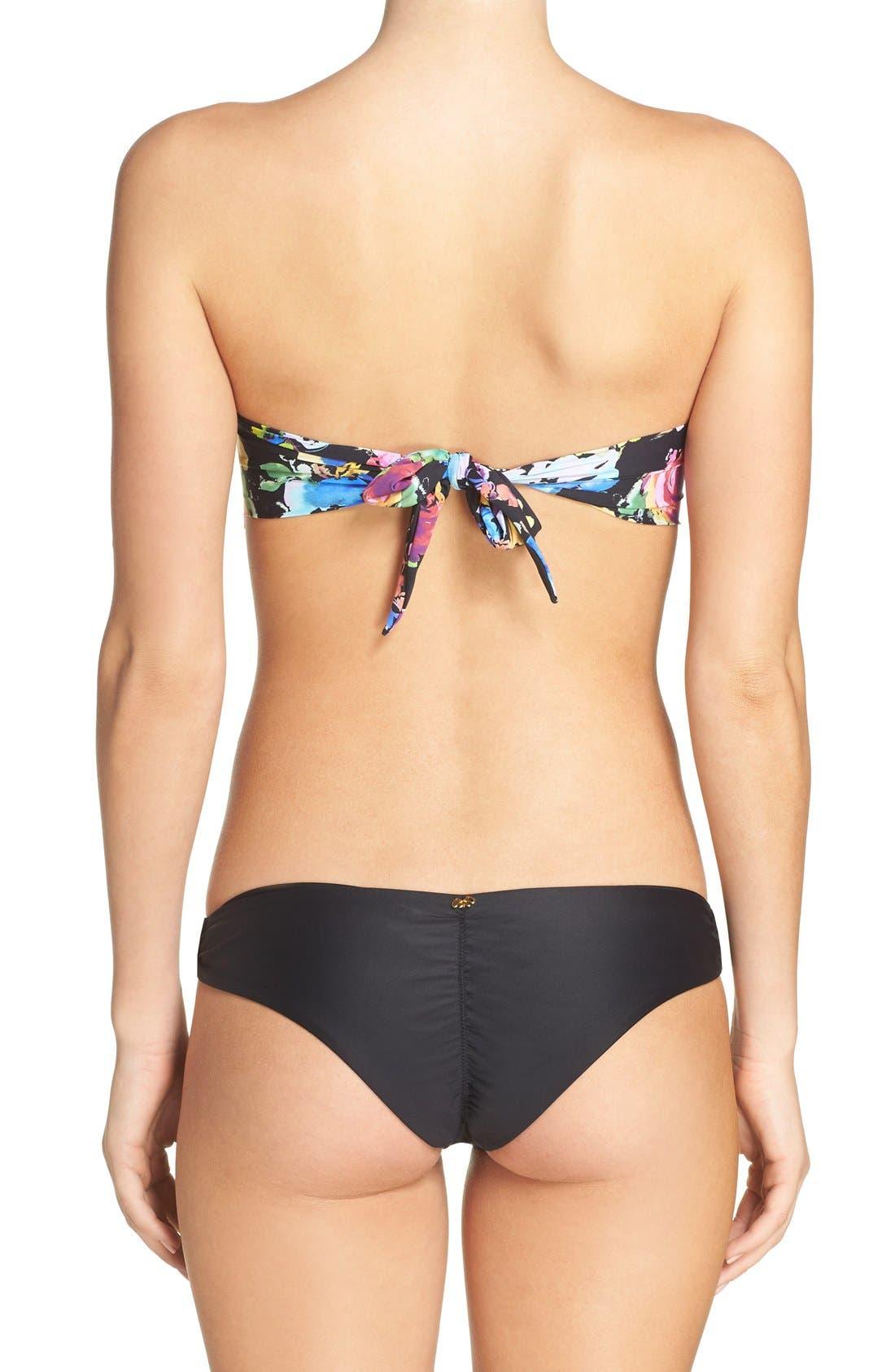 Underwire Bandeau Bikini Top,                             Alternate thumbnail 9, color,                             001