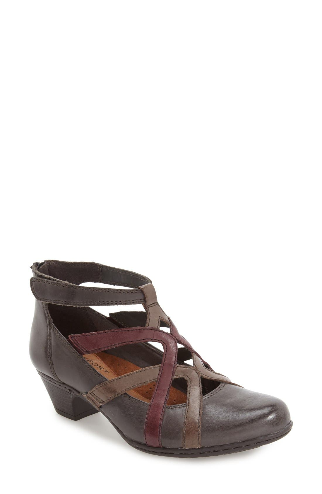 ROCKPORT COBB HILL,                             Adrina Pump,                             Main thumbnail 1, color,                             GREY LEATHER