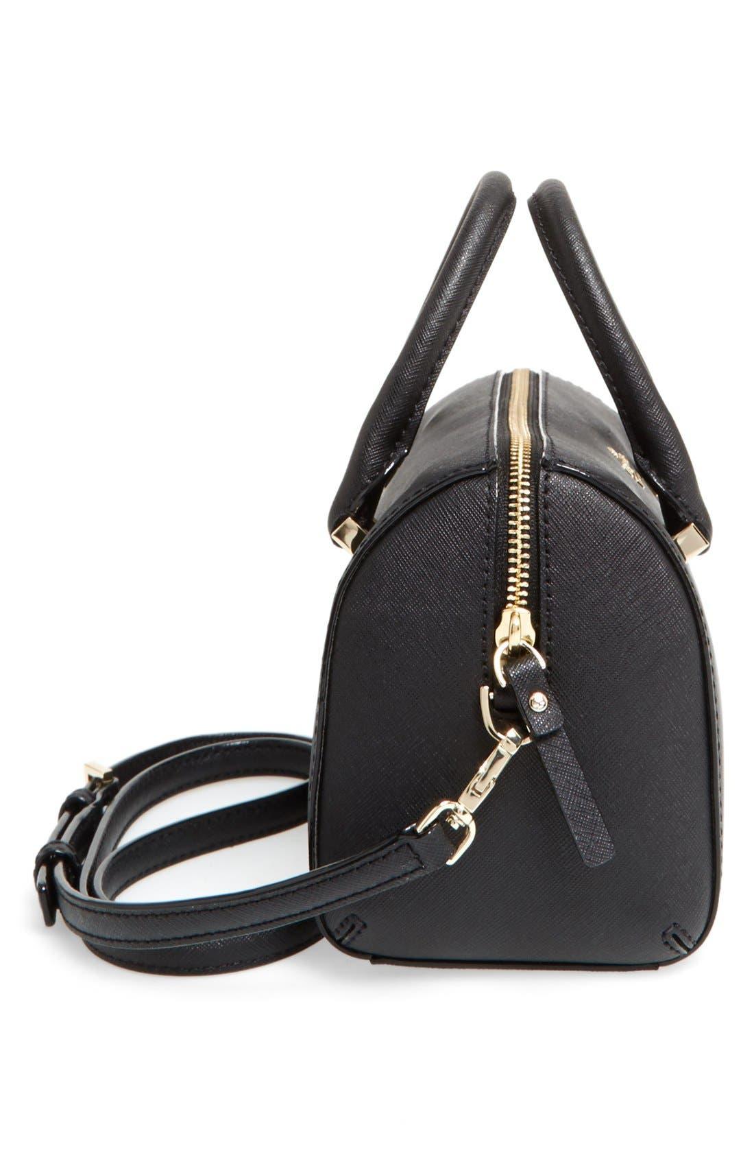 cameron street lane leather satchel,                             Alternate thumbnail 5, color,                             001