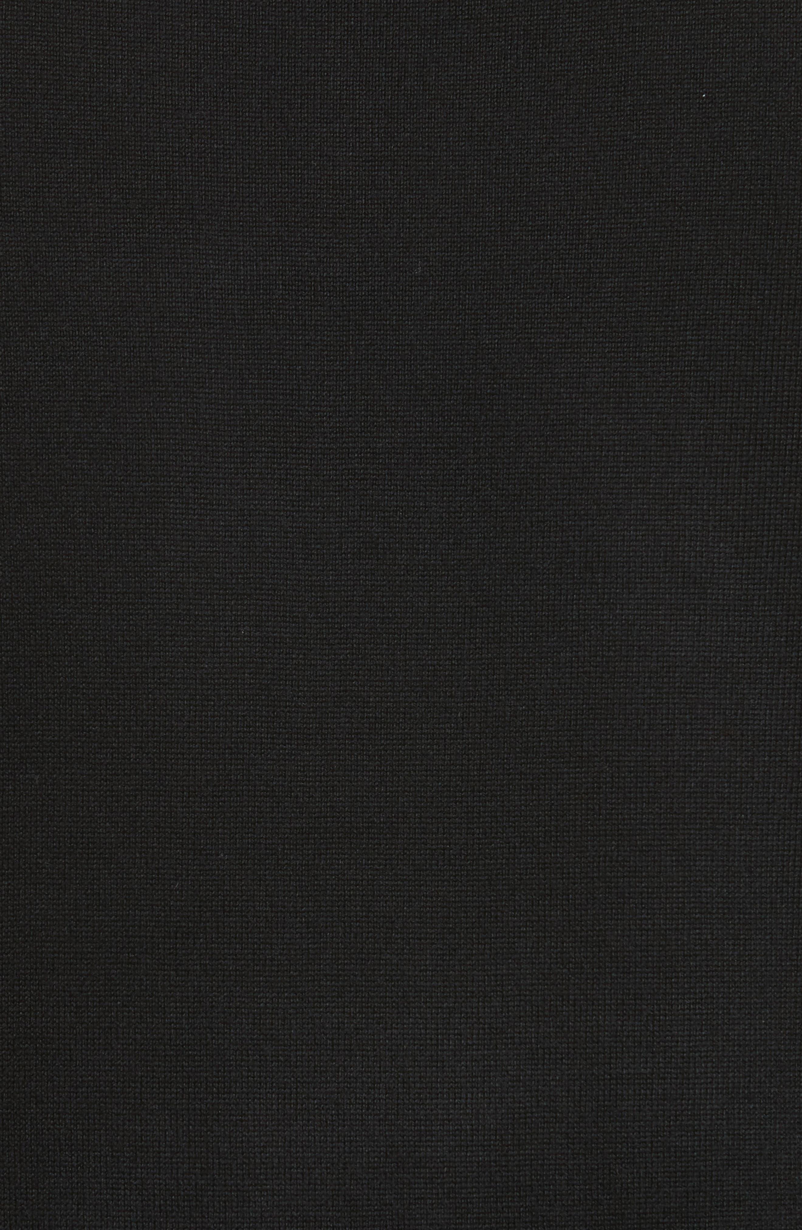 Carter Merino Wool Crewneck Sweater,                             Alternate thumbnail 5, color,                             BLACK