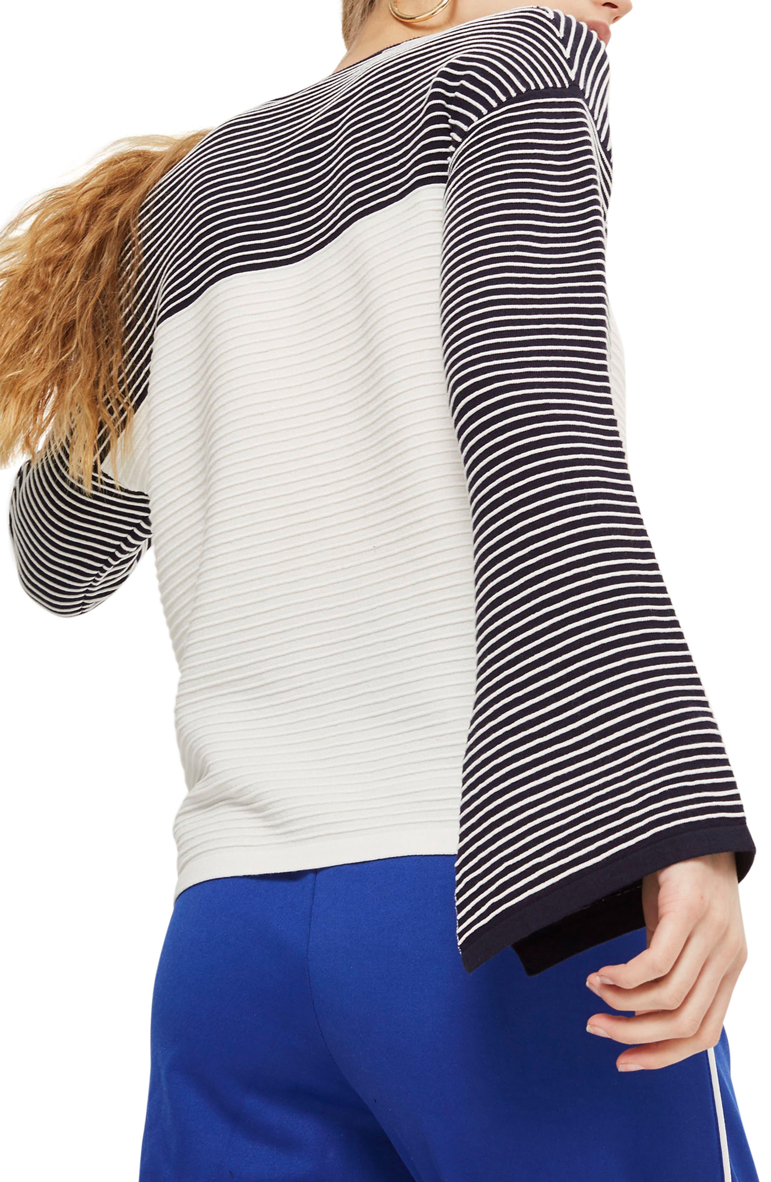 Ottoman Reverse Stripe Sweater,                             Alternate thumbnail 2, color,
