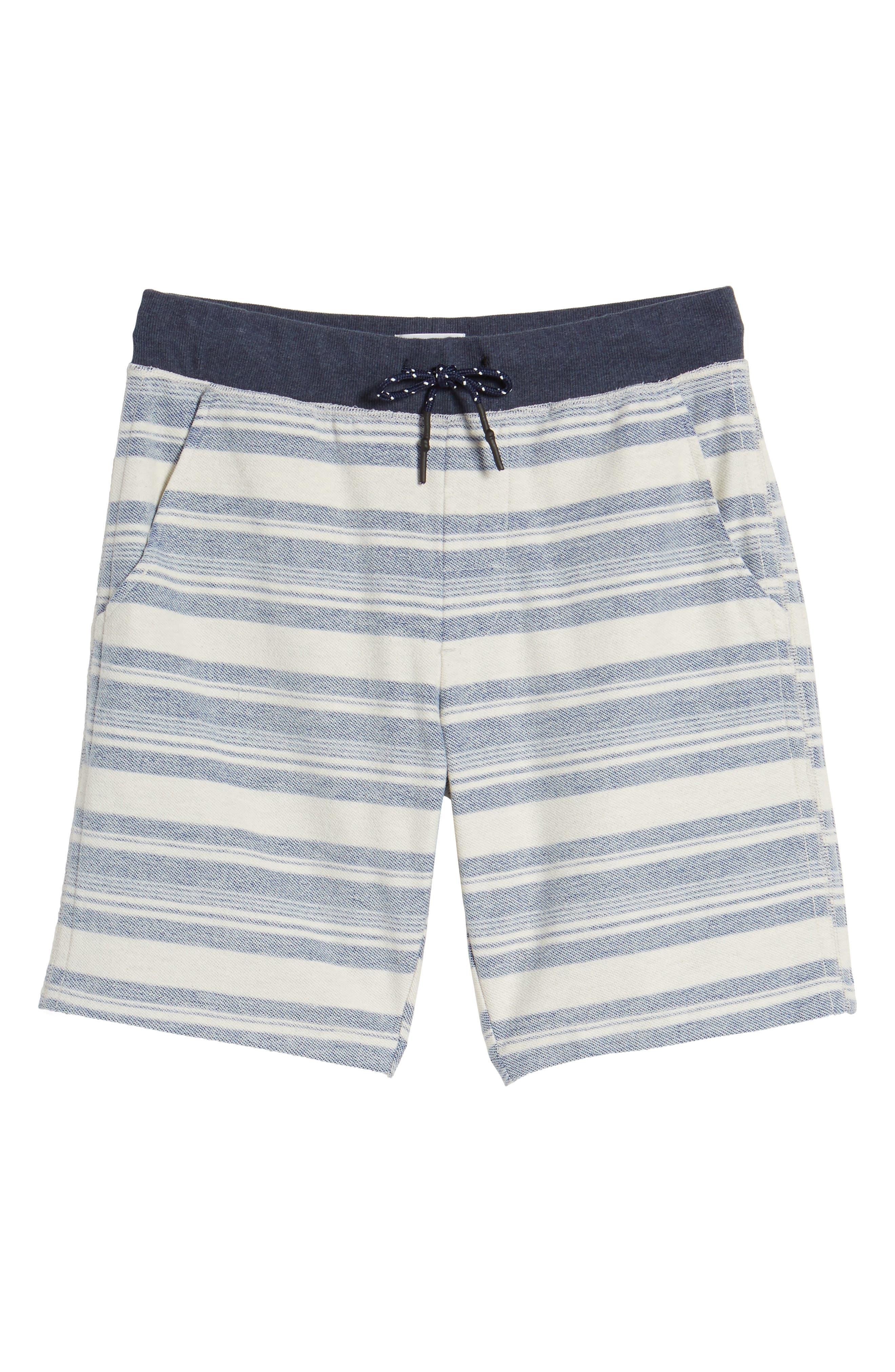 Stripe Reverse Terry Shorts,                             Alternate thumbnail 6, color,                             461