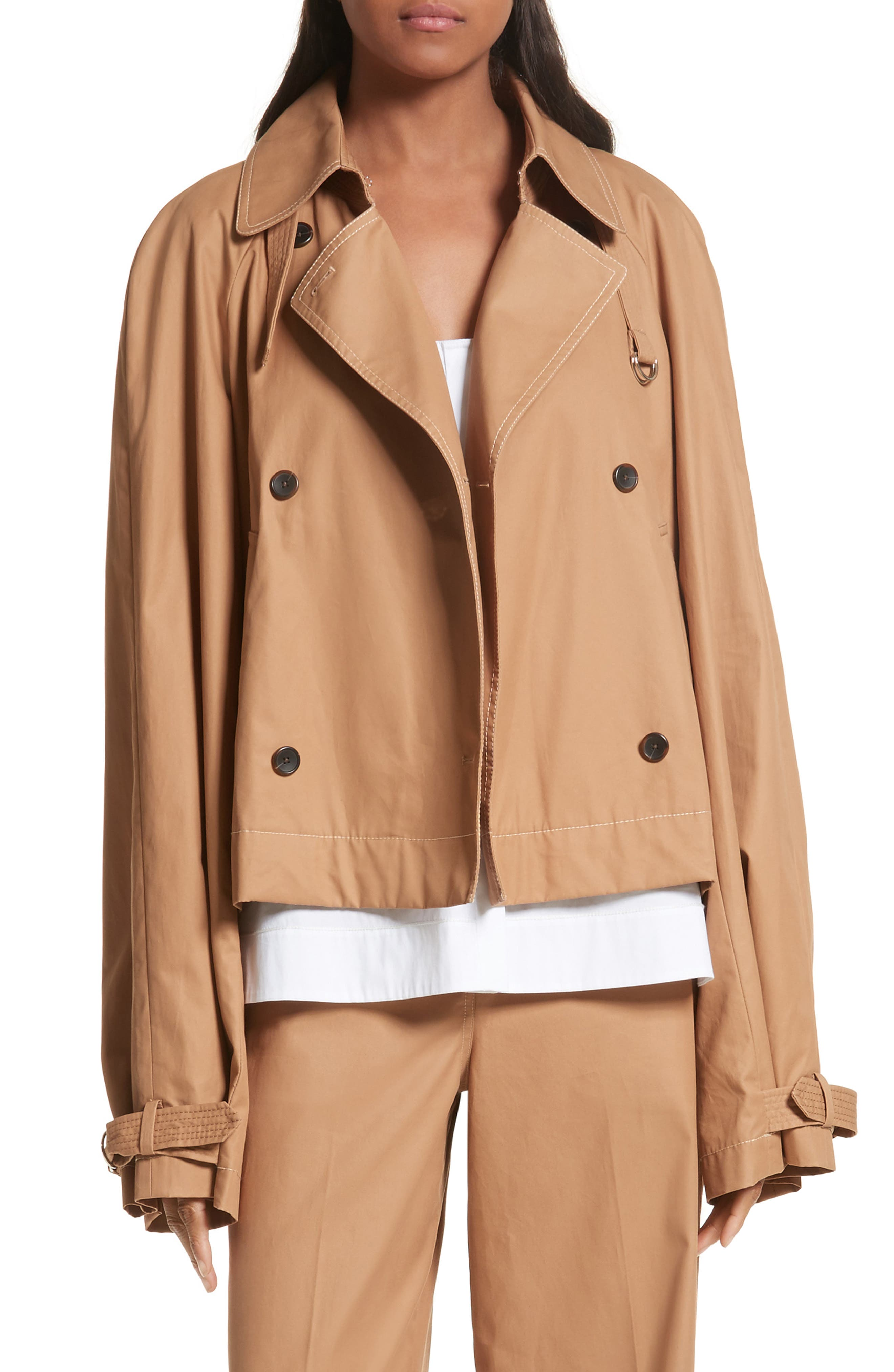Eleta Short Trench Coat,                         Main,                         color, 206