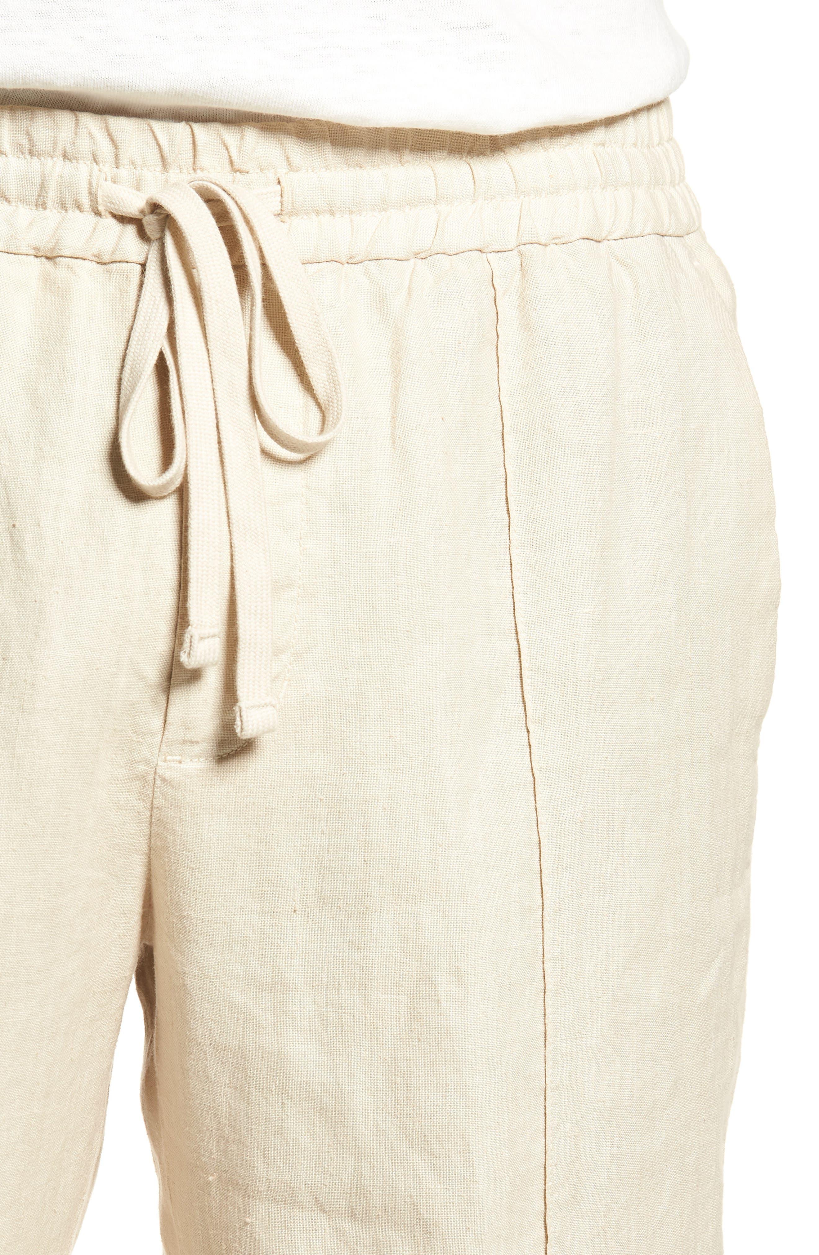 Pintuck Slim Fit Hemp Track Pants,                             Alternate thumbnail 4, color,                             250