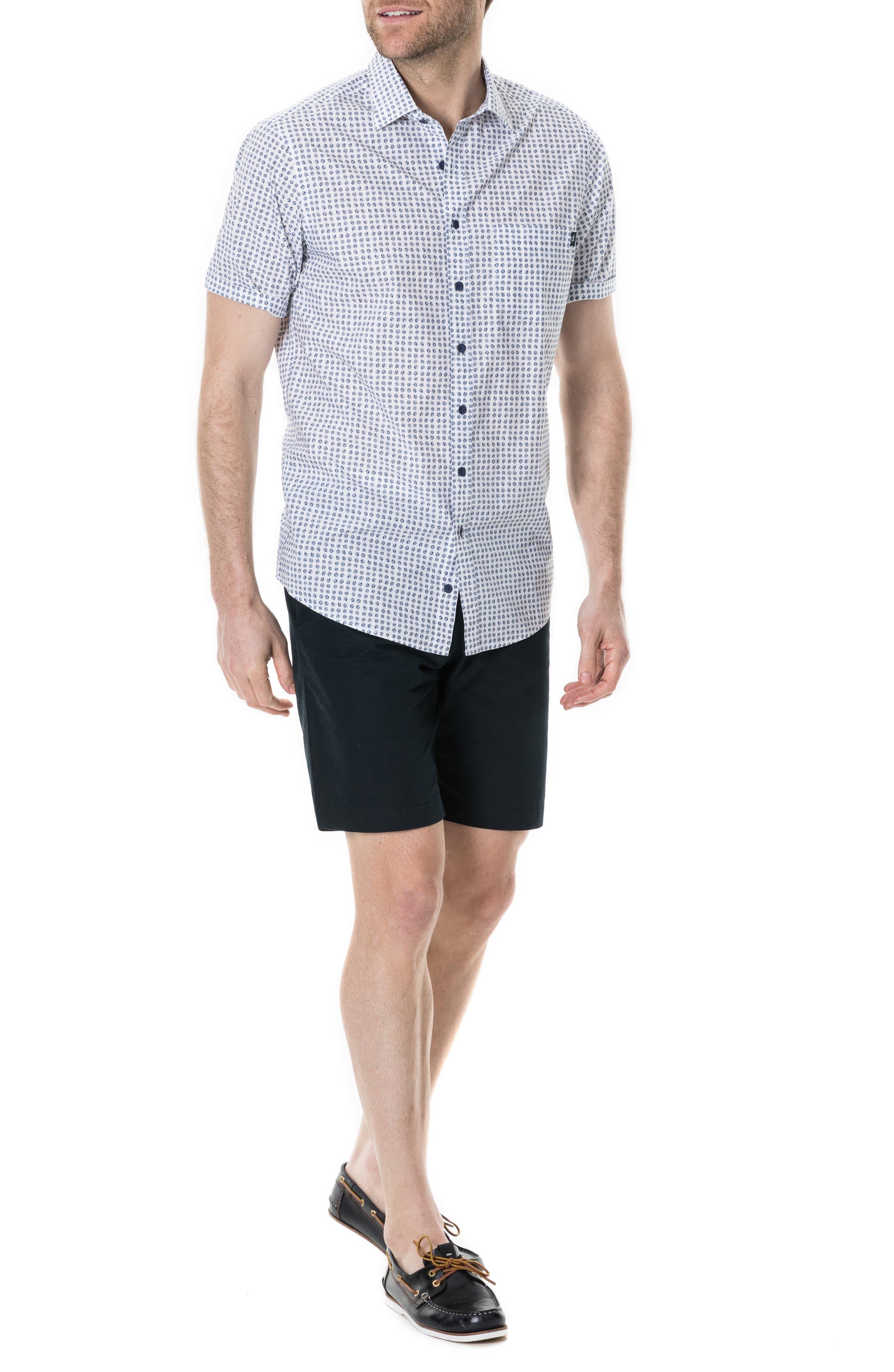 RODD & GUNN,                             Carrington Regular Fit Sport Shirt,                             Alternate thumbnail 4, color,                             SNOW