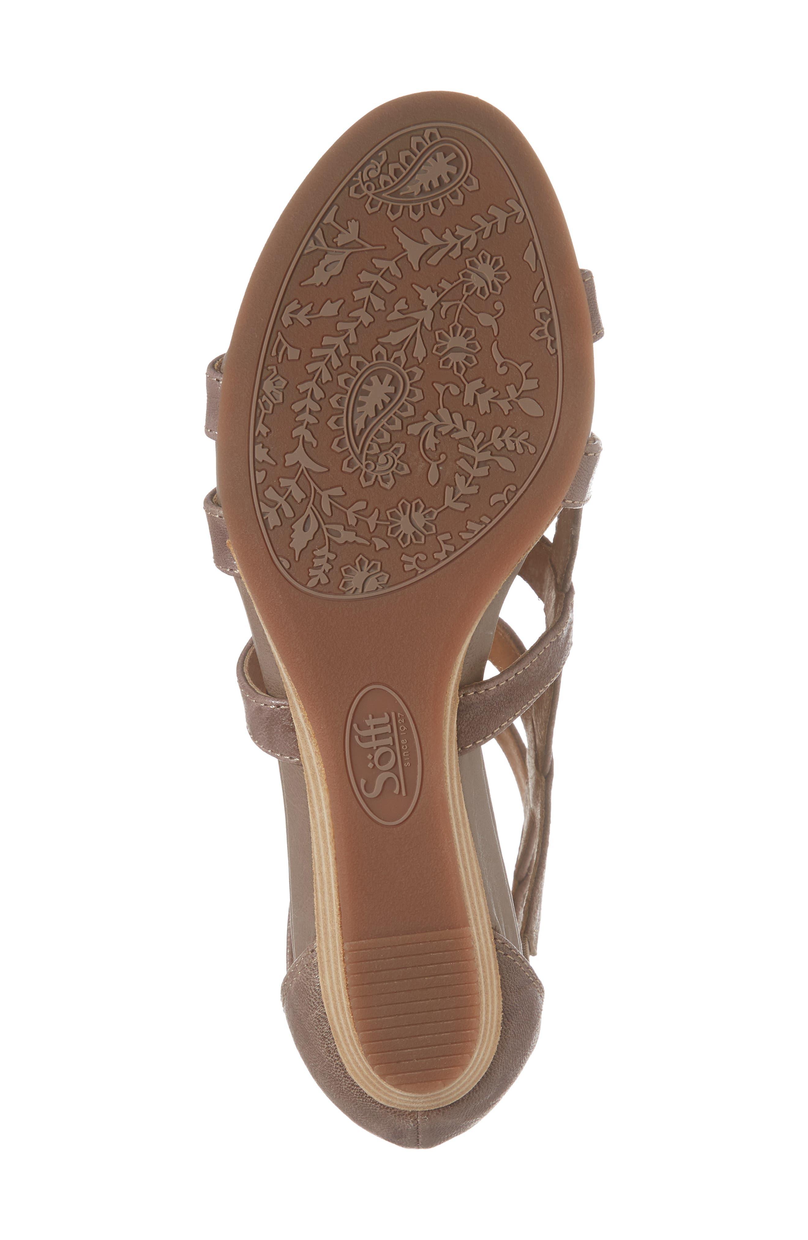 SÖFFT,                             Rio Gladiator Wedge Sandal,                             Alternate thumbnail 6, color,                             030