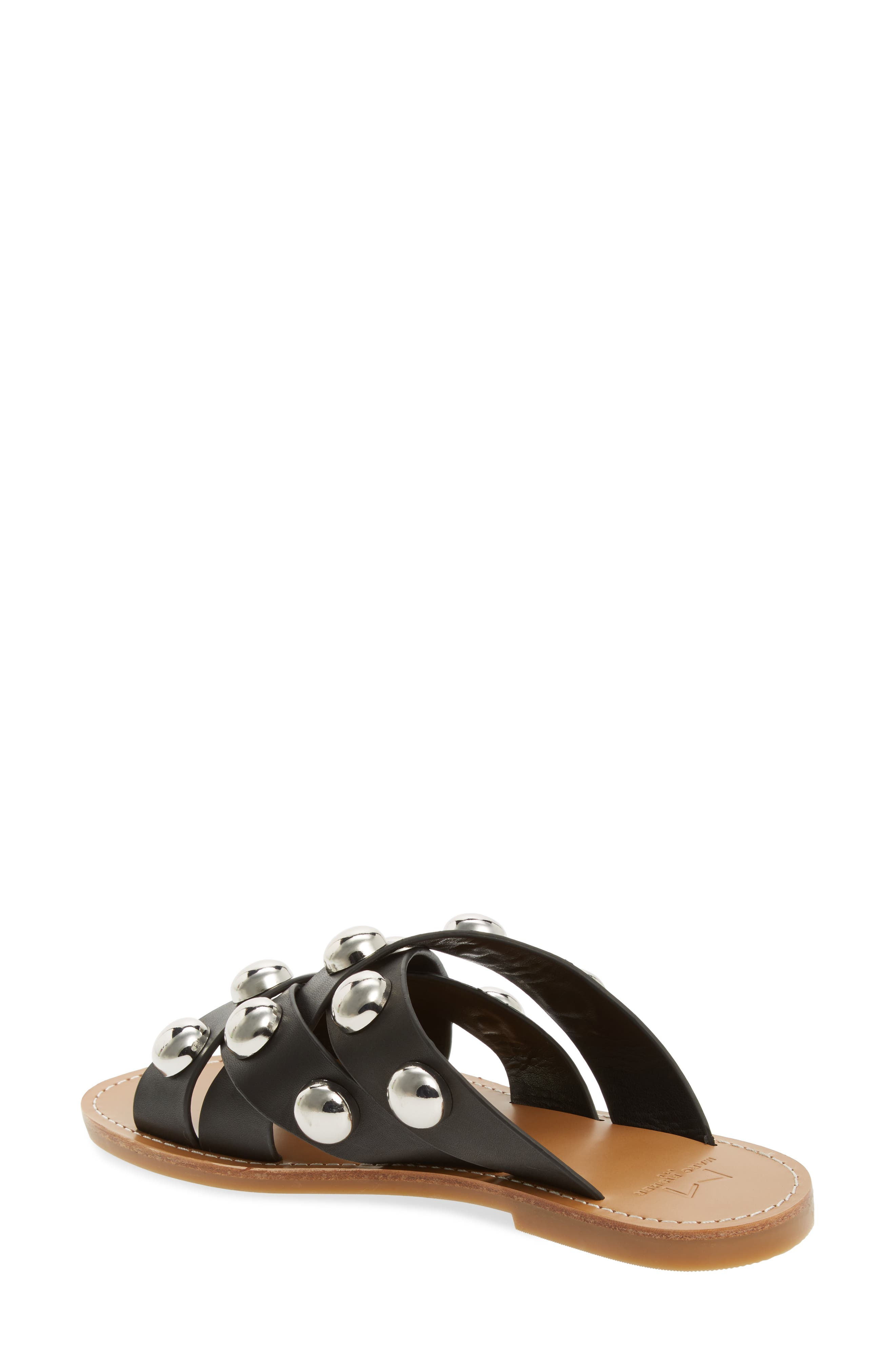 MARC FISHER LTD,                             Raidan Studded Sandal,                             Alternate thumbnail 2, color,                             001