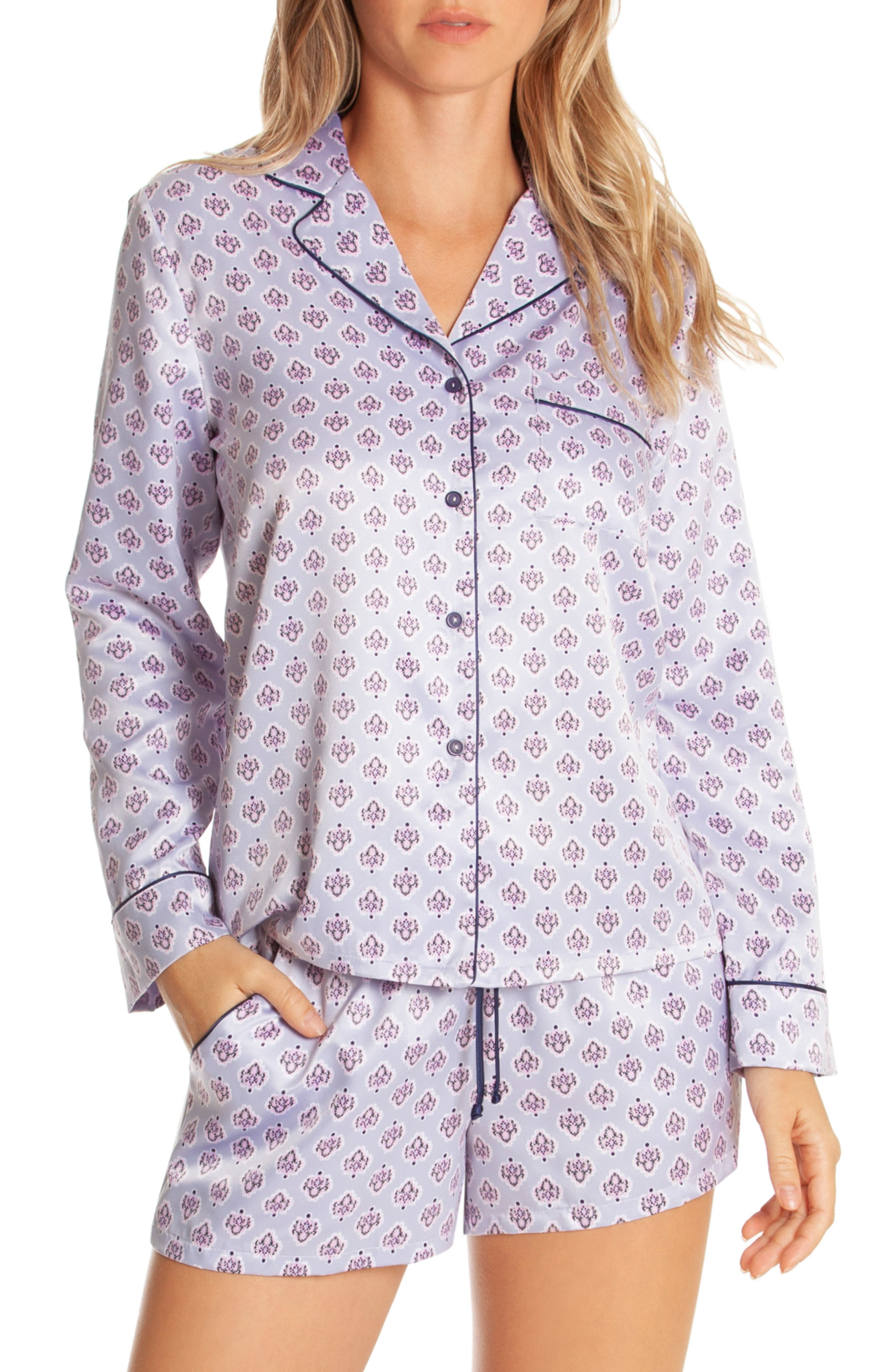 In Bloom By Jonquil Look Of Love Short Pajamas, Purple