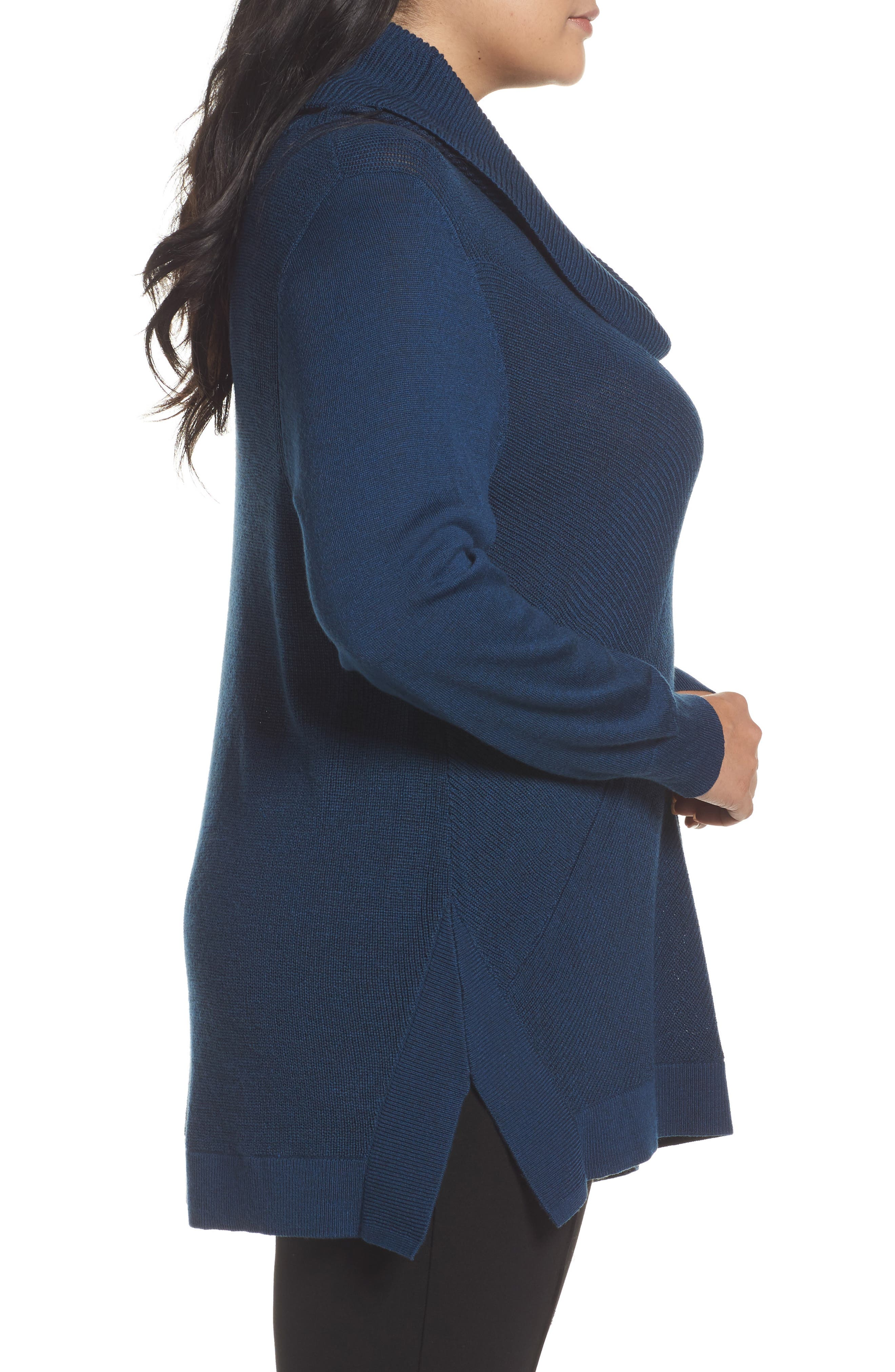 Cowl Neck Ribbed Trim Pullover,                             Alternate thumbnail 17, color,