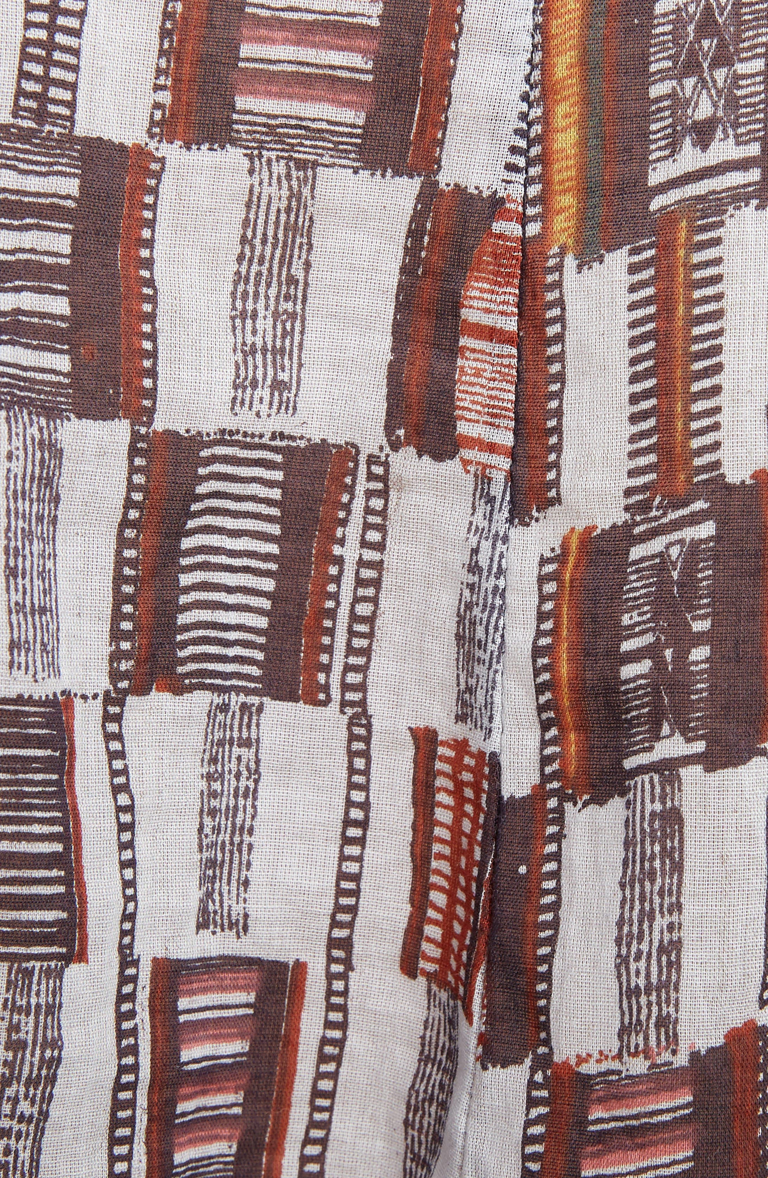 Nalou Print Cotton Top,                             Alternate thumbnail 5, color,                             200