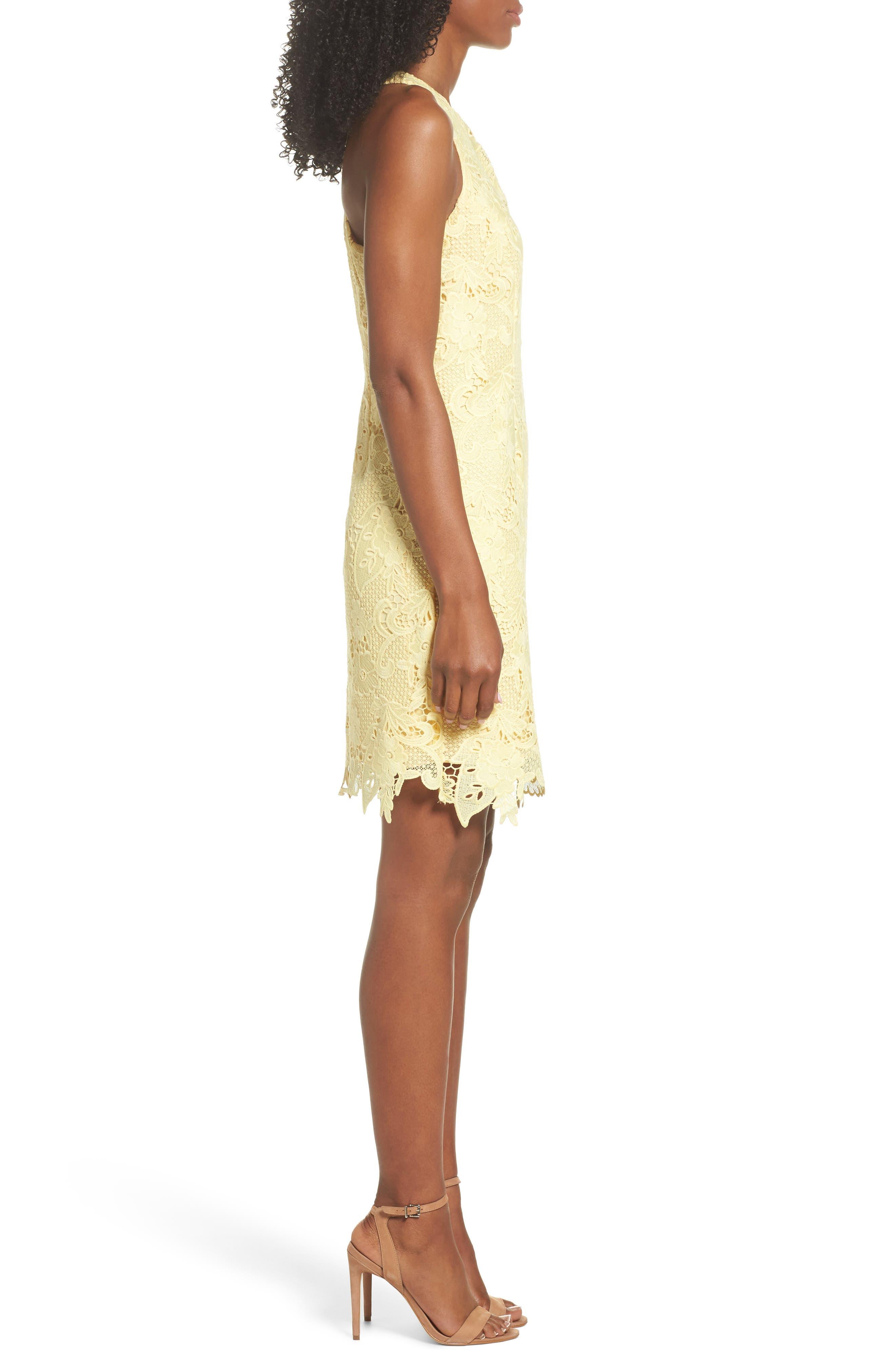 Lace Sheath Dress,                             Alternate thumbnail 3, color,                             720