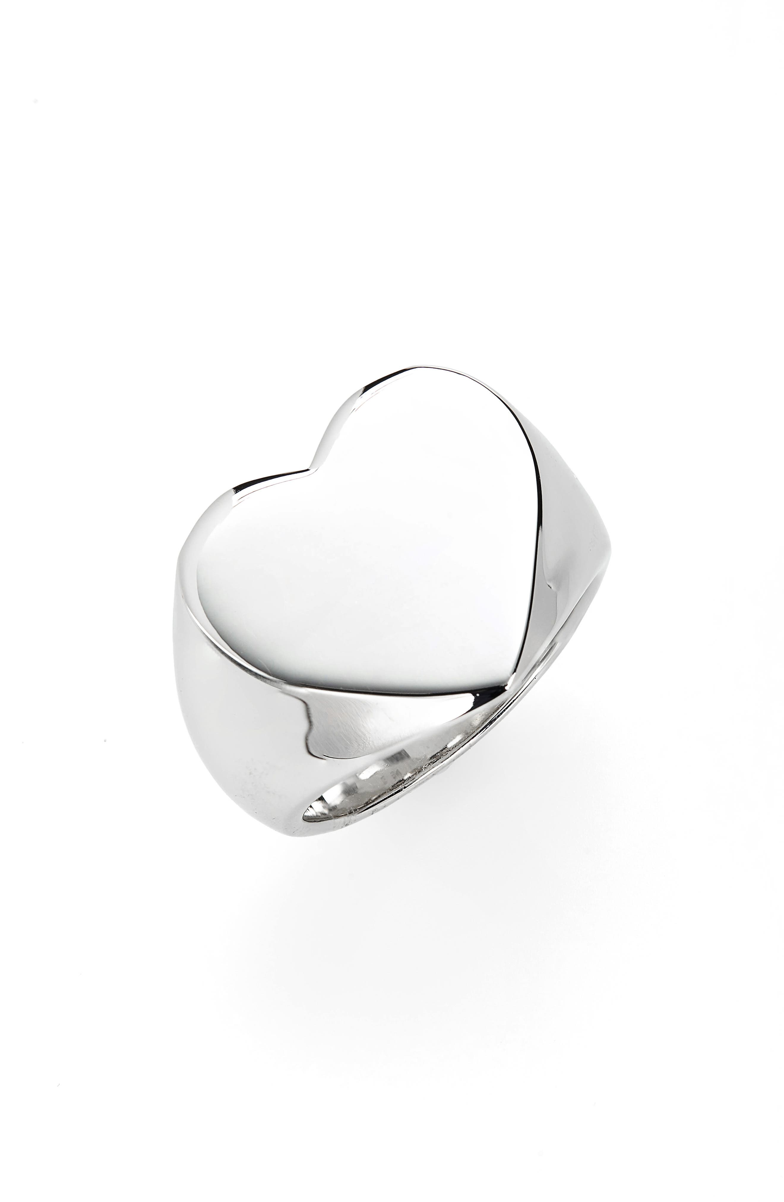 Ton Wood Heart Signet Ring,                             Main thumbnail 1, color,                             925 STERLING SILVER