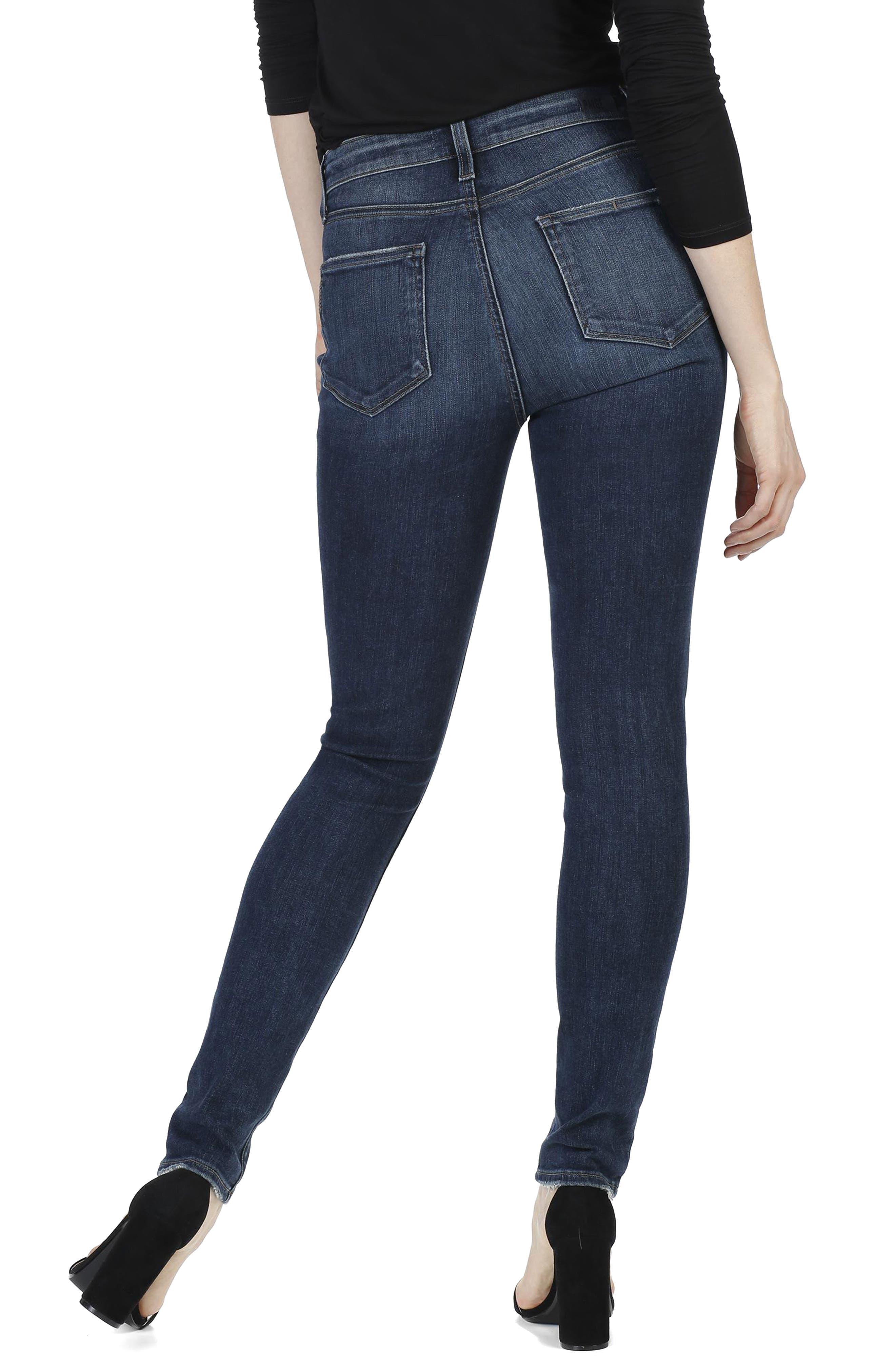 Transcend - Hoxton High Waist Ultra Skinny Jeans,                             Alternate thumbnail 3, color,                             400