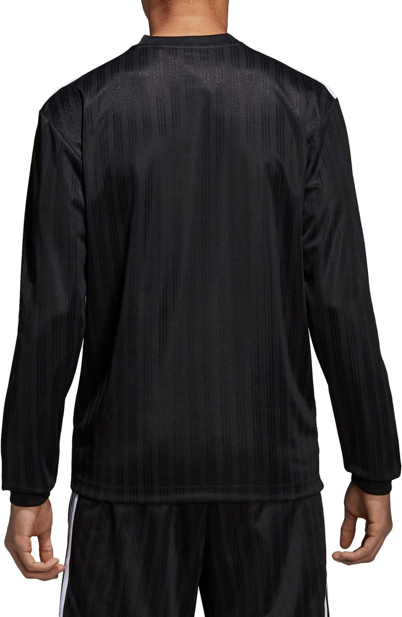 ADIDAS ORIGINALS,                             Long Sleeve Jersey Shirt,                             Alternate thumbnail 2, color,                             001