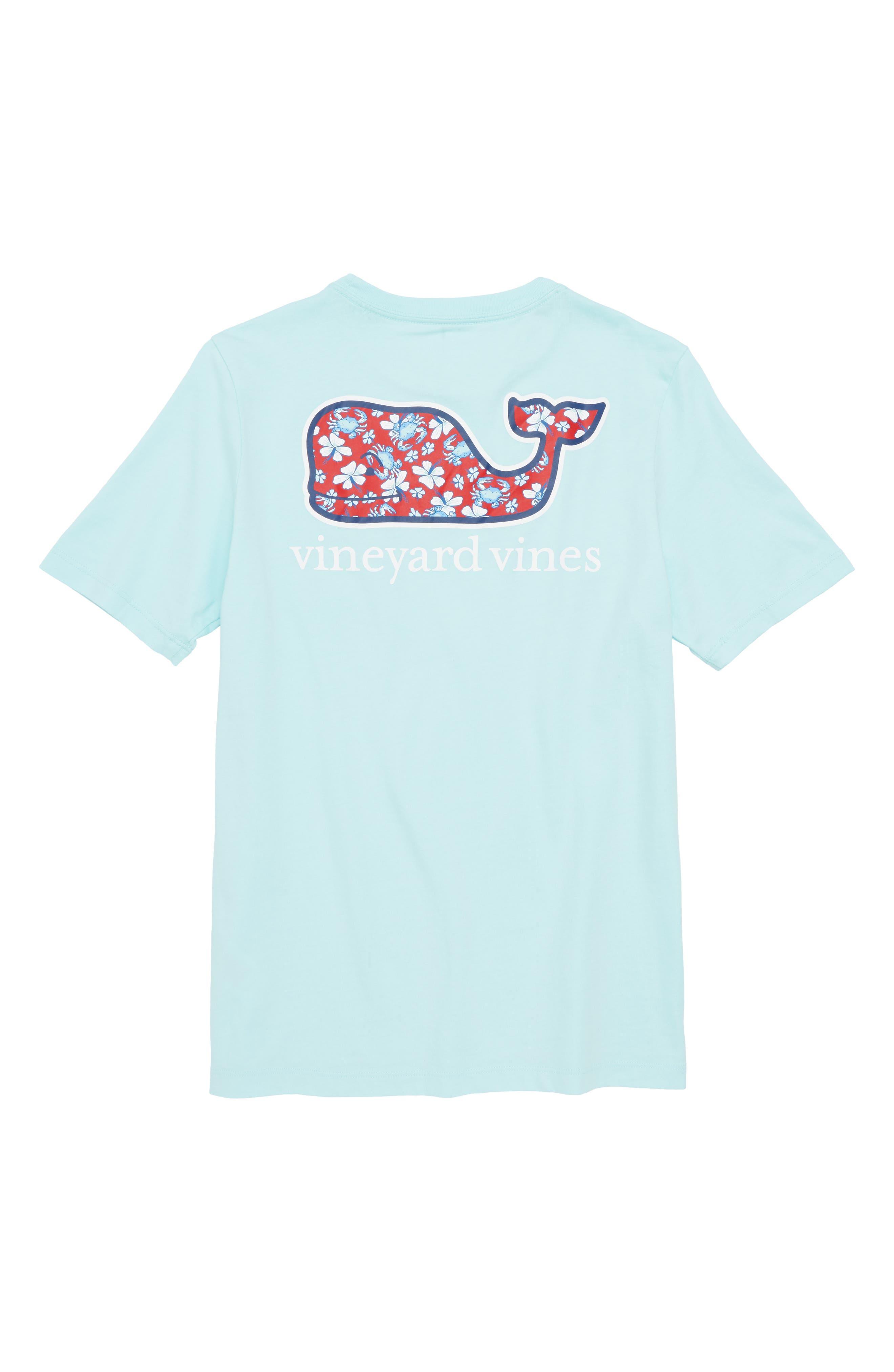 Crab & Flower Whale Pocket T-Shirt,                             Alternate thumbnail 2, color,                             650
