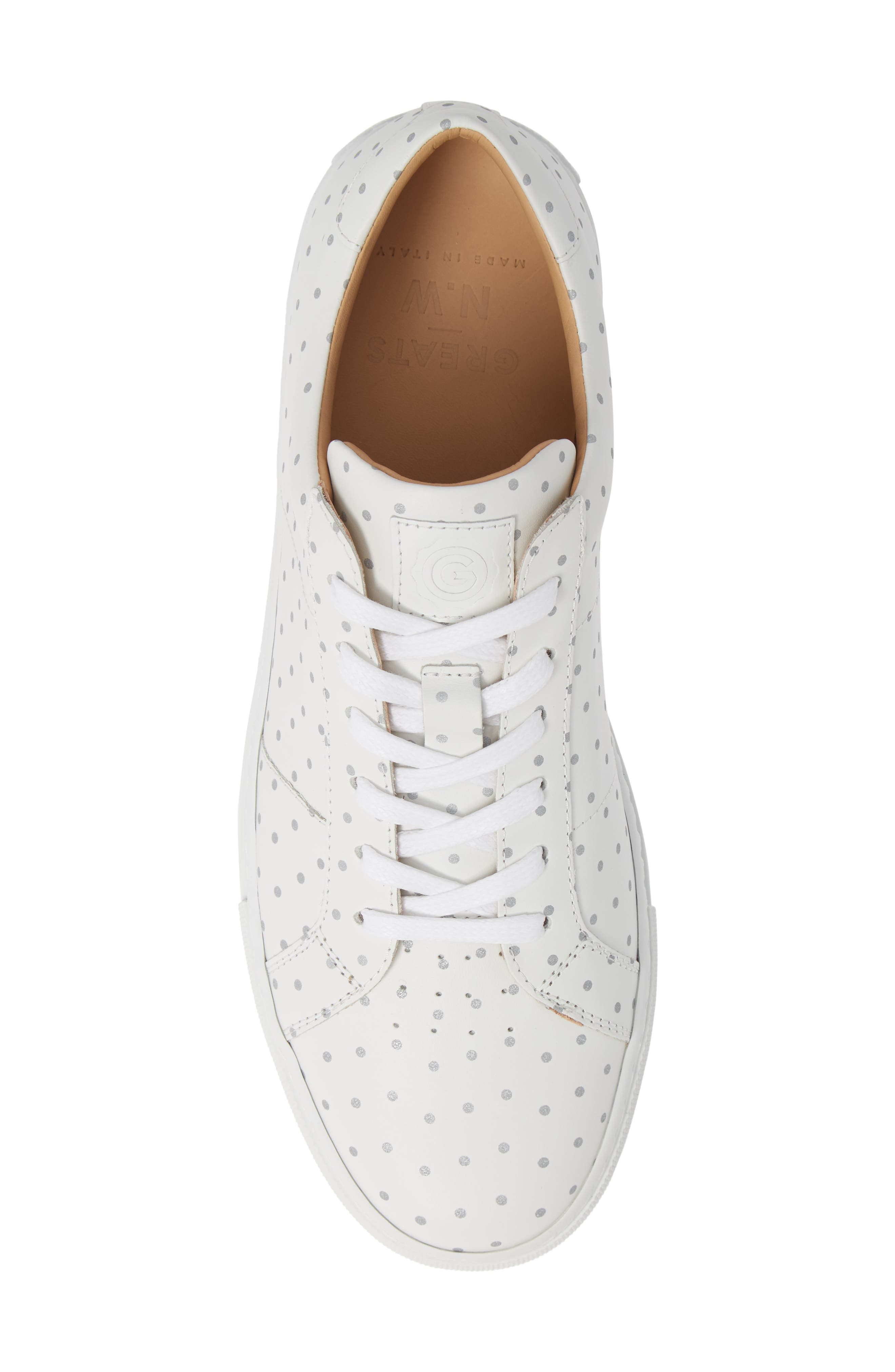 Nick Wooster x GREATS Royale Dots Low Top Sneaker,                             Alternate thumbnail 5, color,                             WHITE W/ 3M DOTS