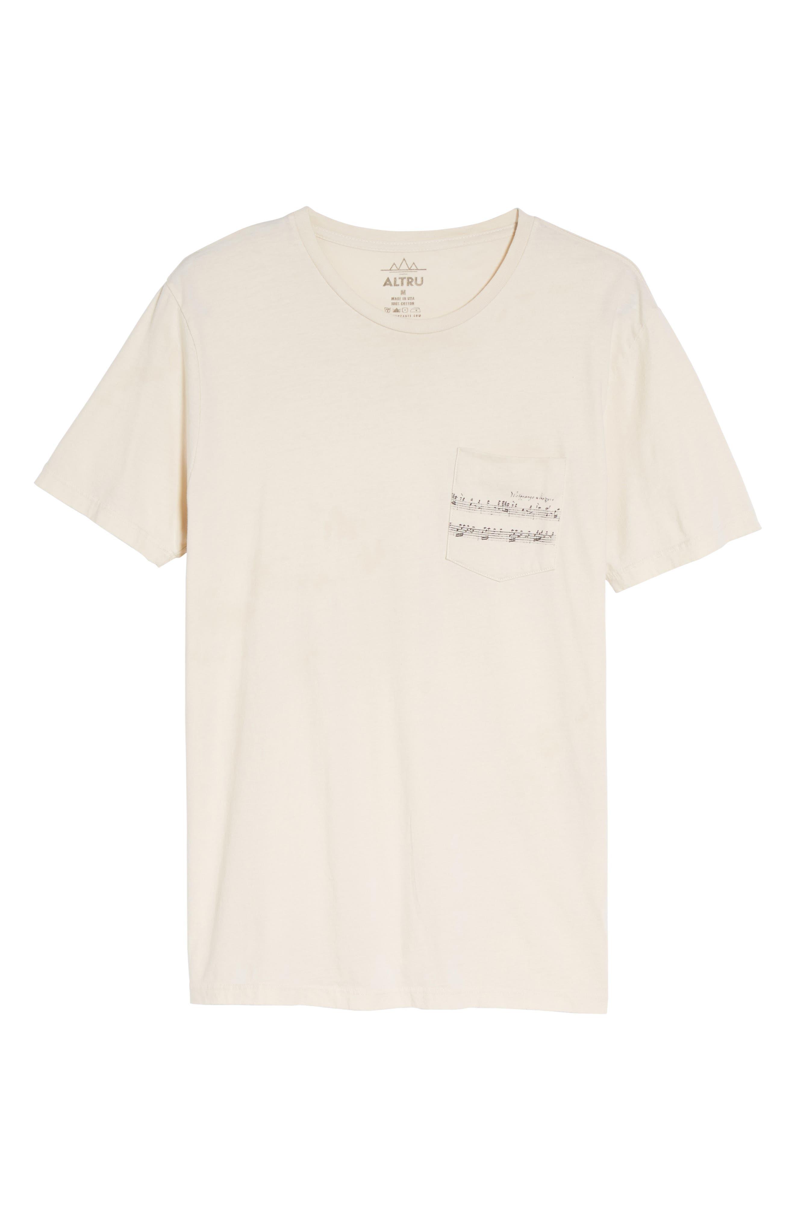 Mozart Pocket T-Shirt,                             Alternate thumbnail 6, color,                             101