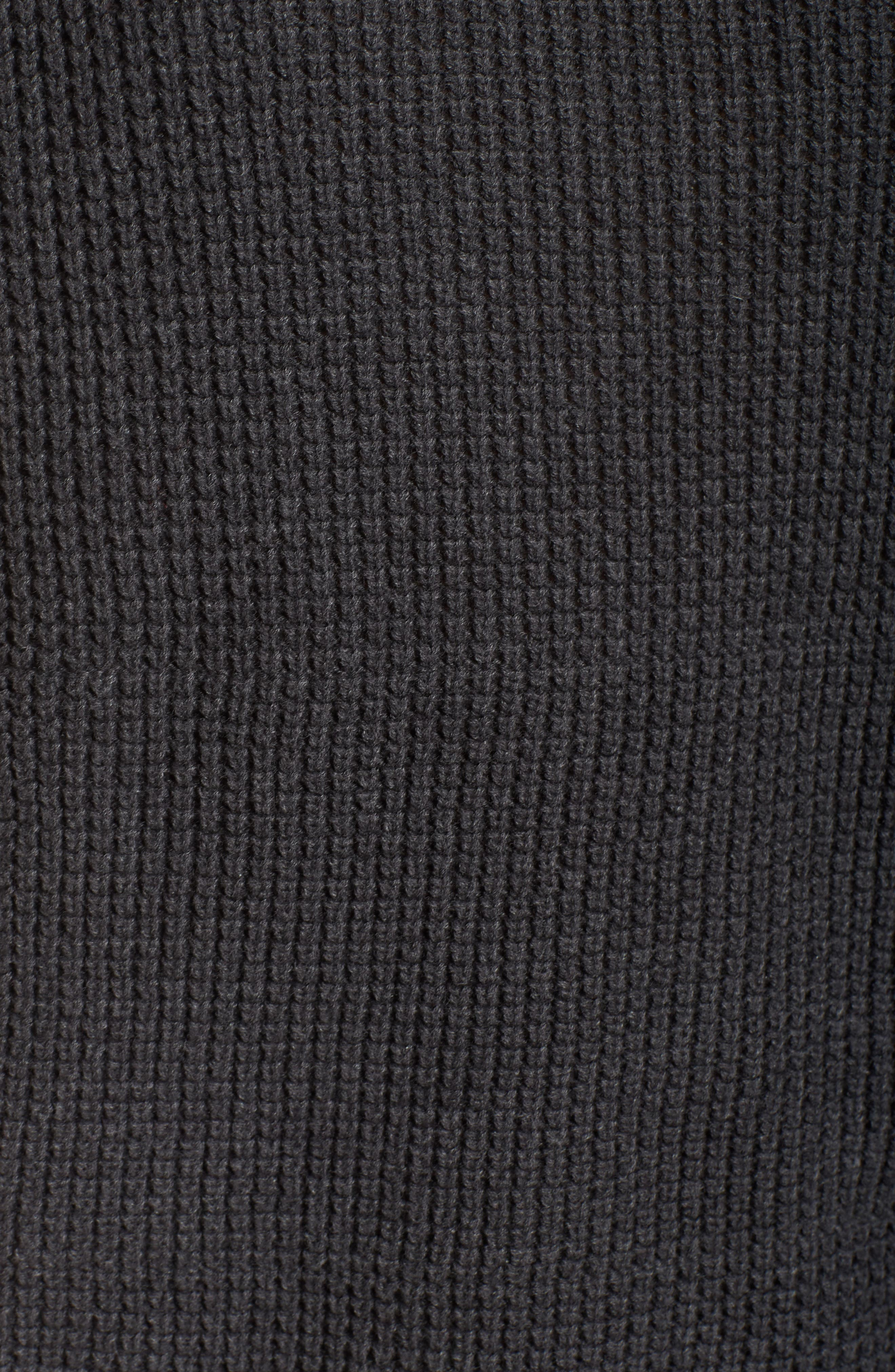 'Selby' Turtleneck Cotton Knit Pullover,                             Alternate thumbnail 5, color,                             001