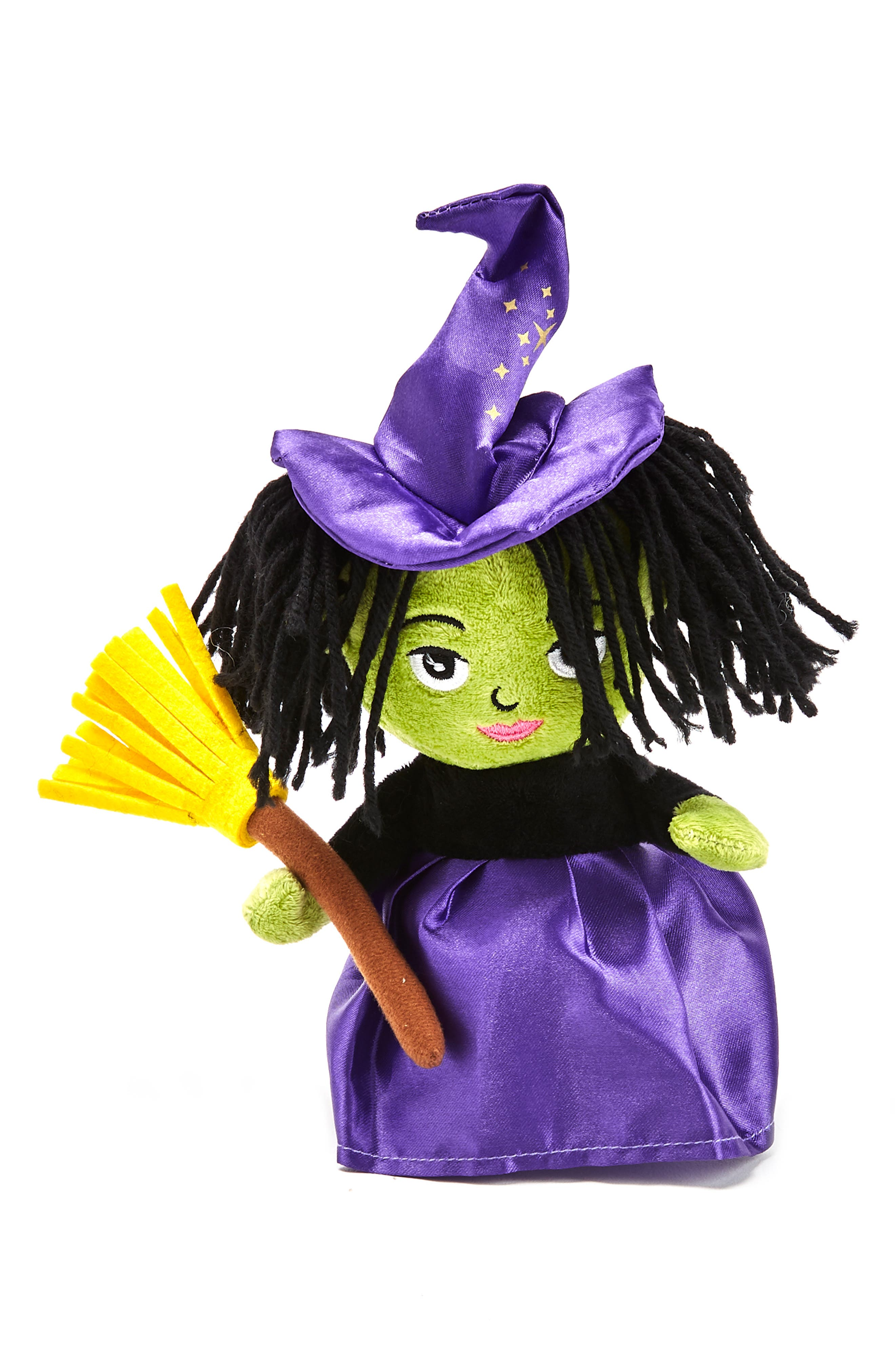 Plush Speak & Repeat Witch Doll,                         Main,                         color, GREEN