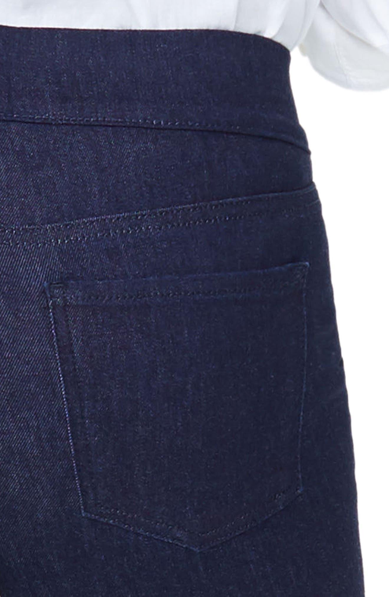 High Waist Pull-On Stretch Skinny Capri Jeans,                             Alternate thumbnail 4, color,                             408