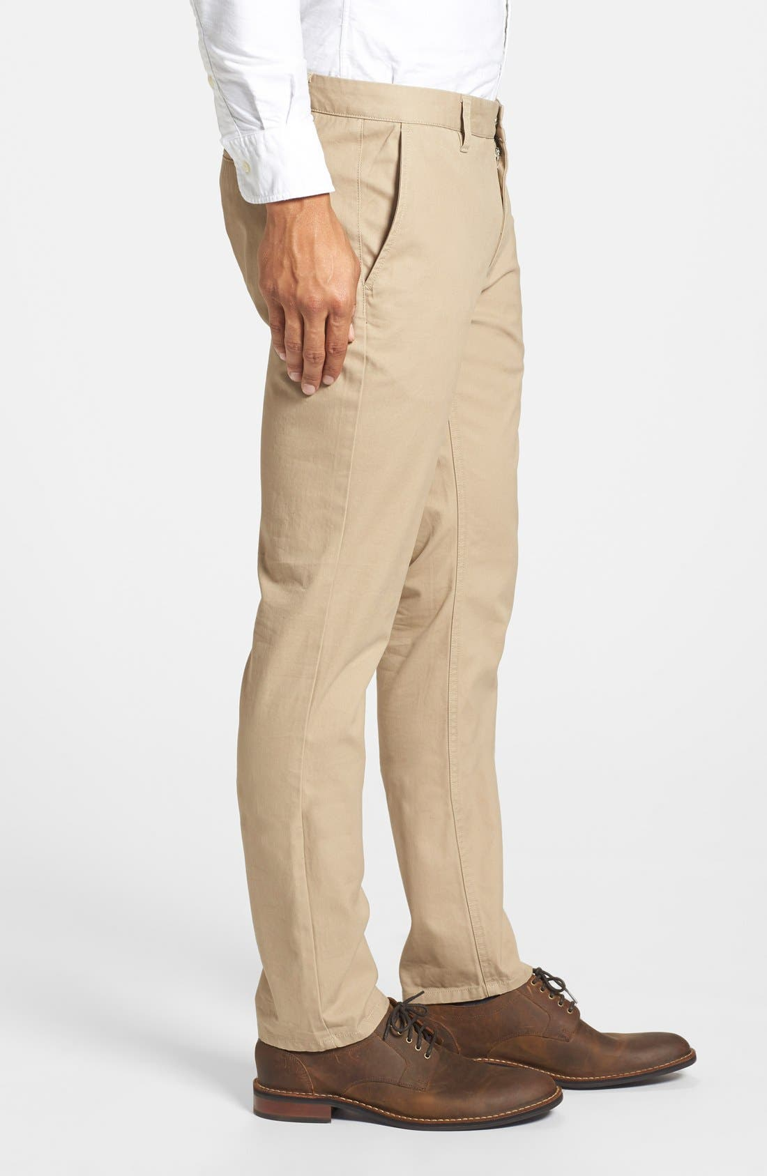 Tailored Fit Washed Chinos,                             Alternate thumbnail 5, color,                             250