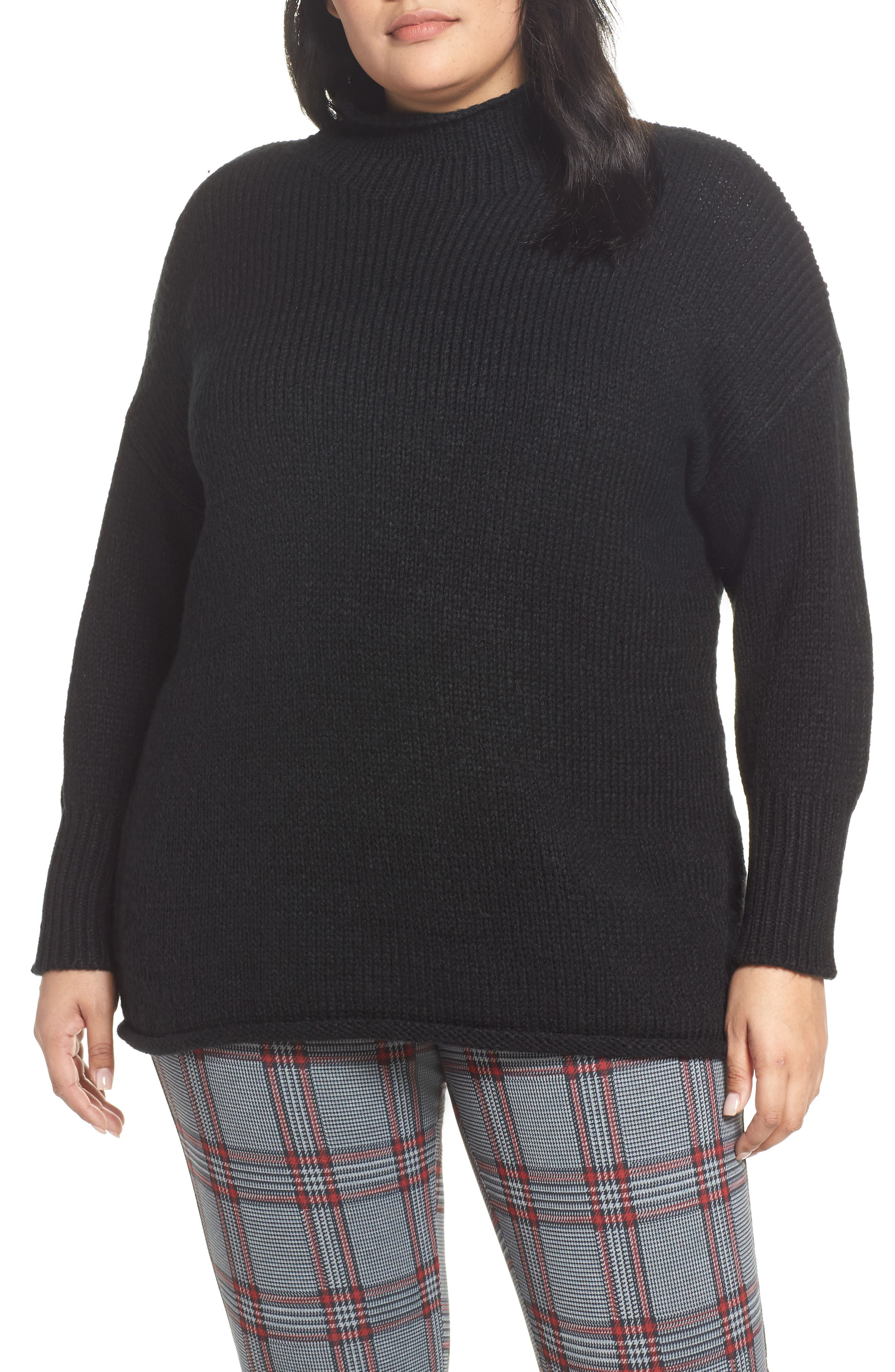 Supersized Curl Up Sweater,                             Main thumbnail 1, color,                             001