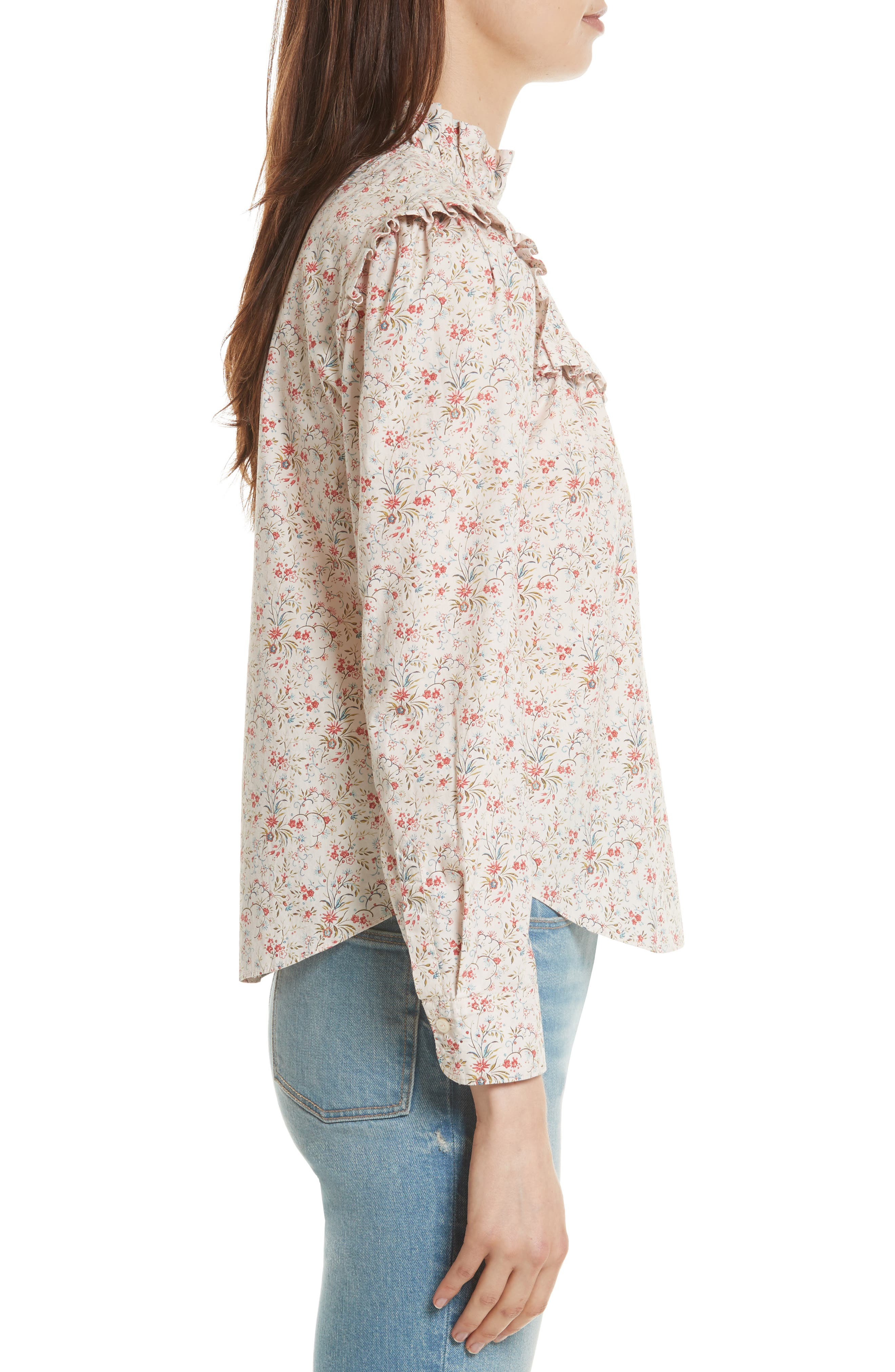 Brittany Floral Blouse,                             Alternate thumbnail 3, color,                             902