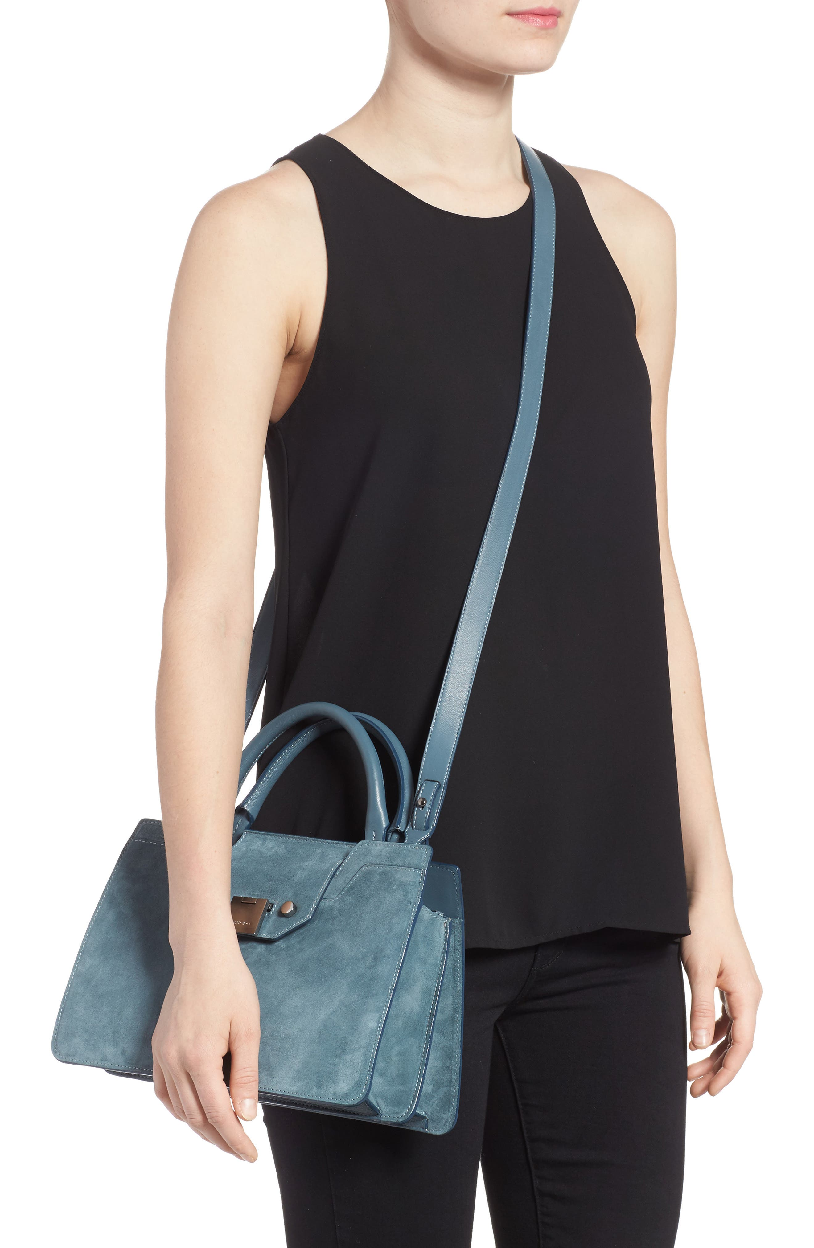 Small Rebel Suede Tote,                             Alternate thumbnail 2, color,                             420