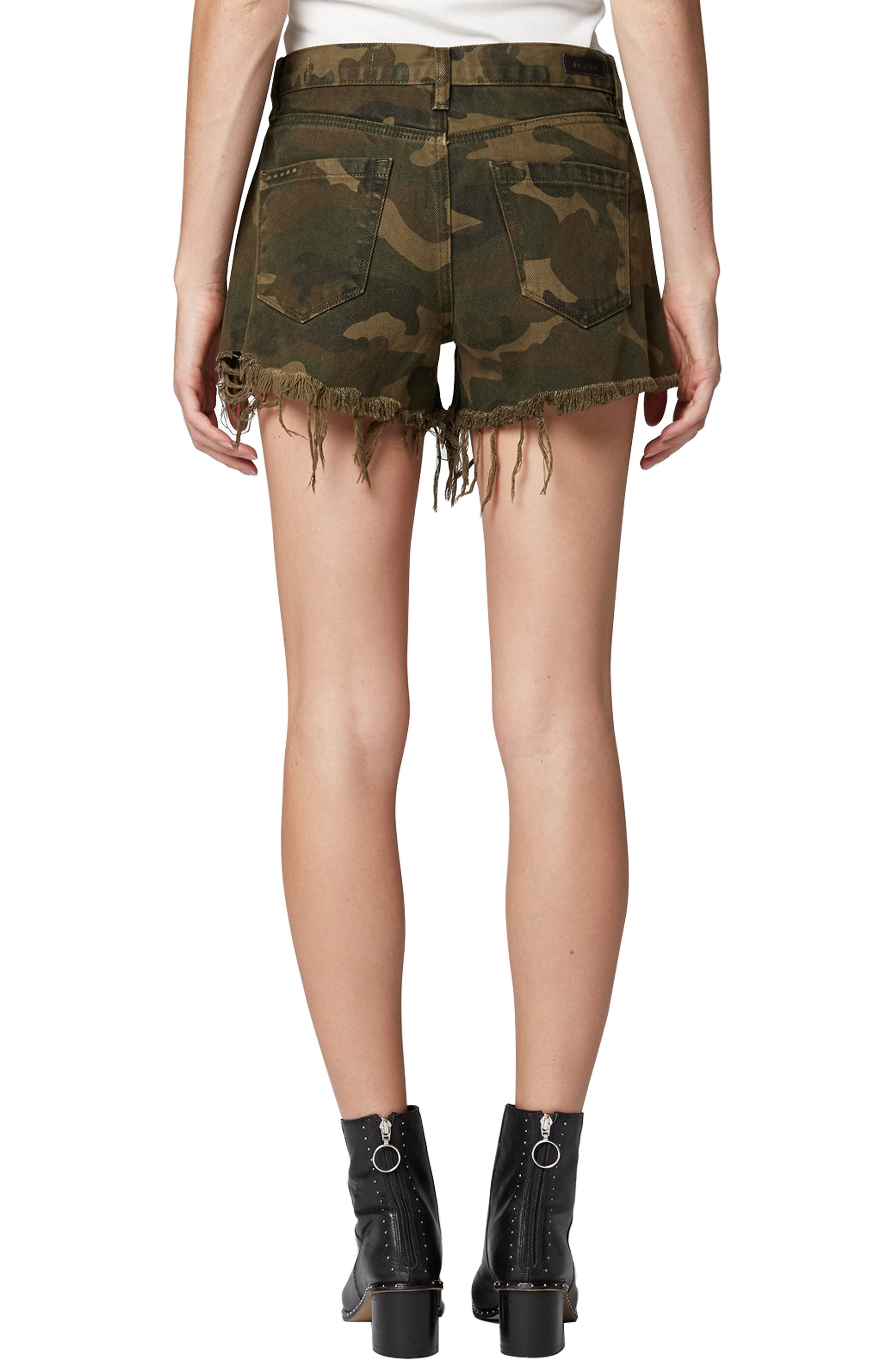 Cutoff Camo Shorts,                             Alternate thumbnail 2, color,                             ARMY OF ONE