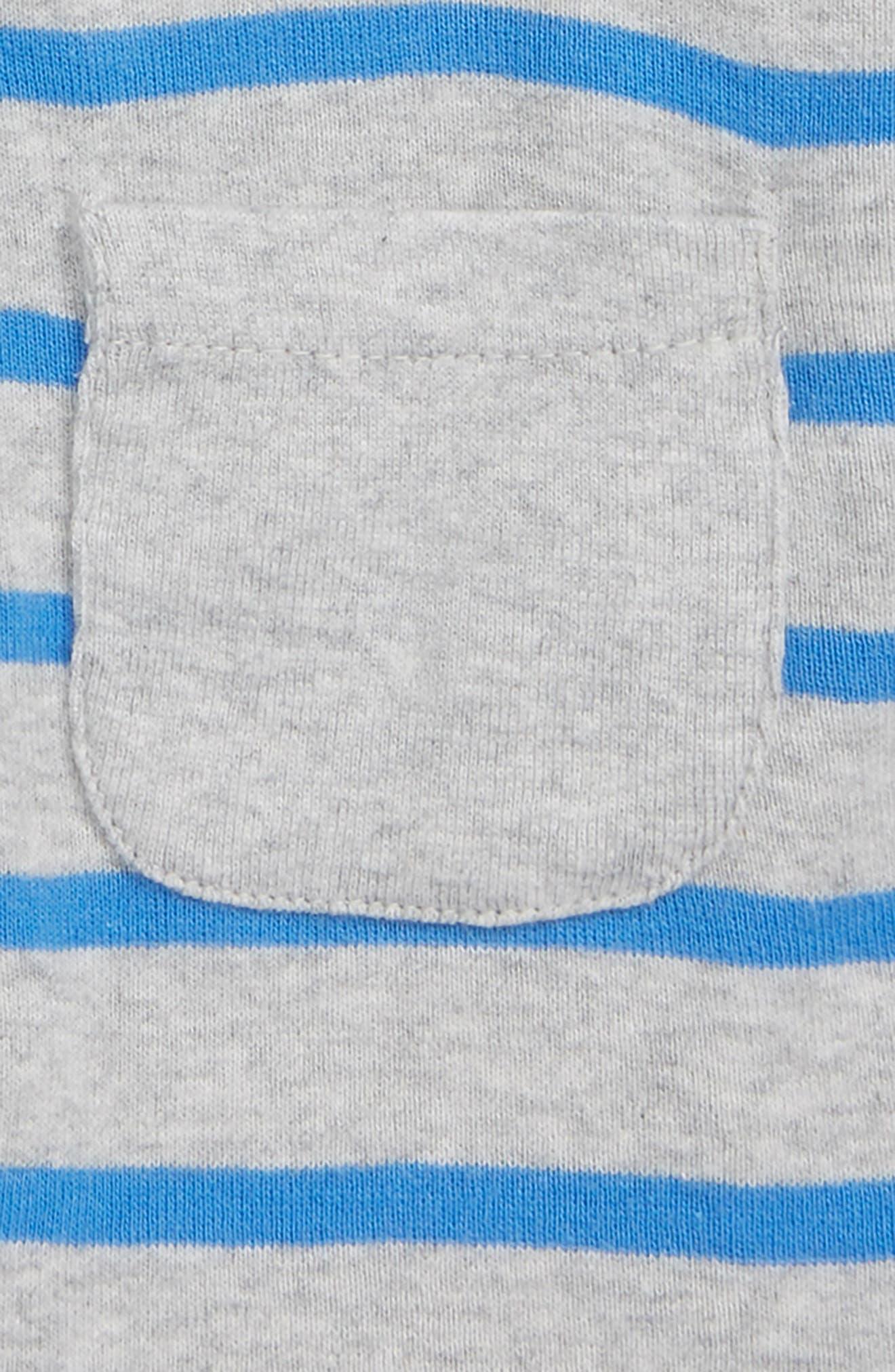 NORDSTROM BABY,                             Stripe Hooded Romper,                             Alternate thumbnail 2, color,                             451