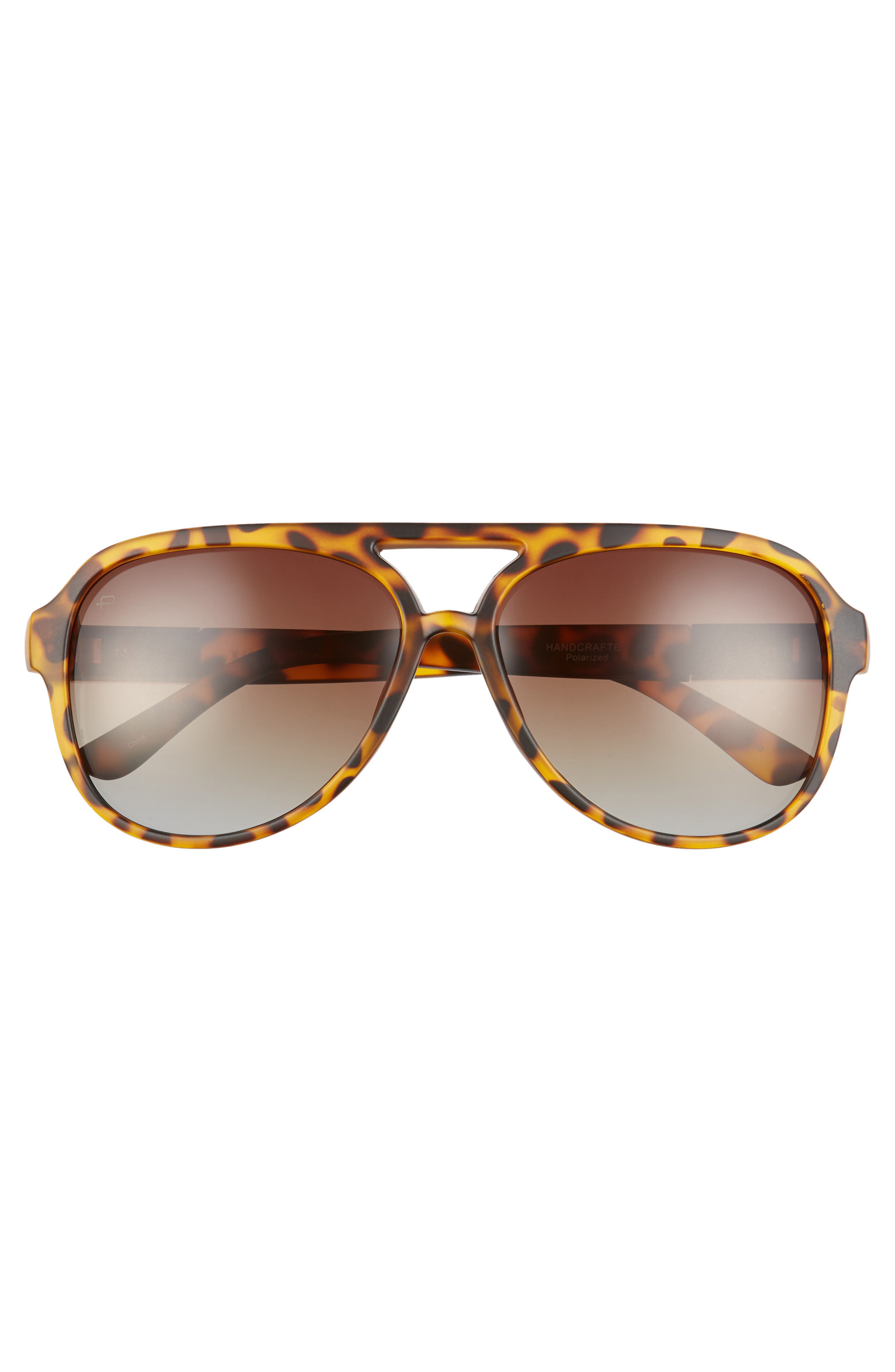 Privé Revaux The Nash 58mm Aviator Sunglasses,                             Alternate thumbnail 3, color,                             BROWN