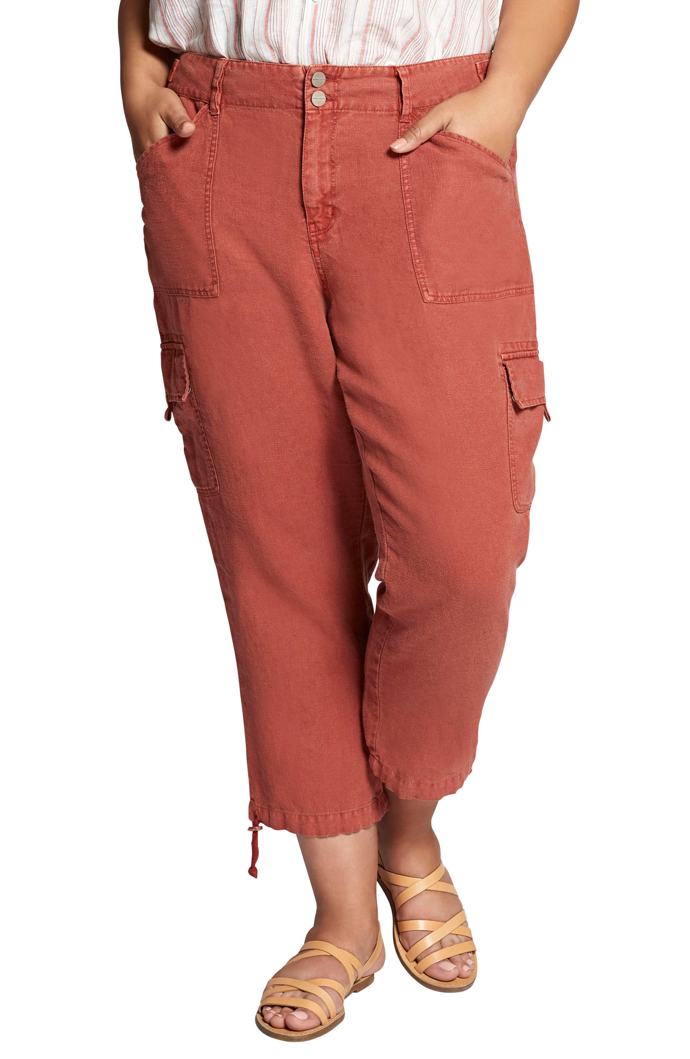 Terrain Crop Linen Cargo Pants,                             Main thumbnail 1, color,                             206