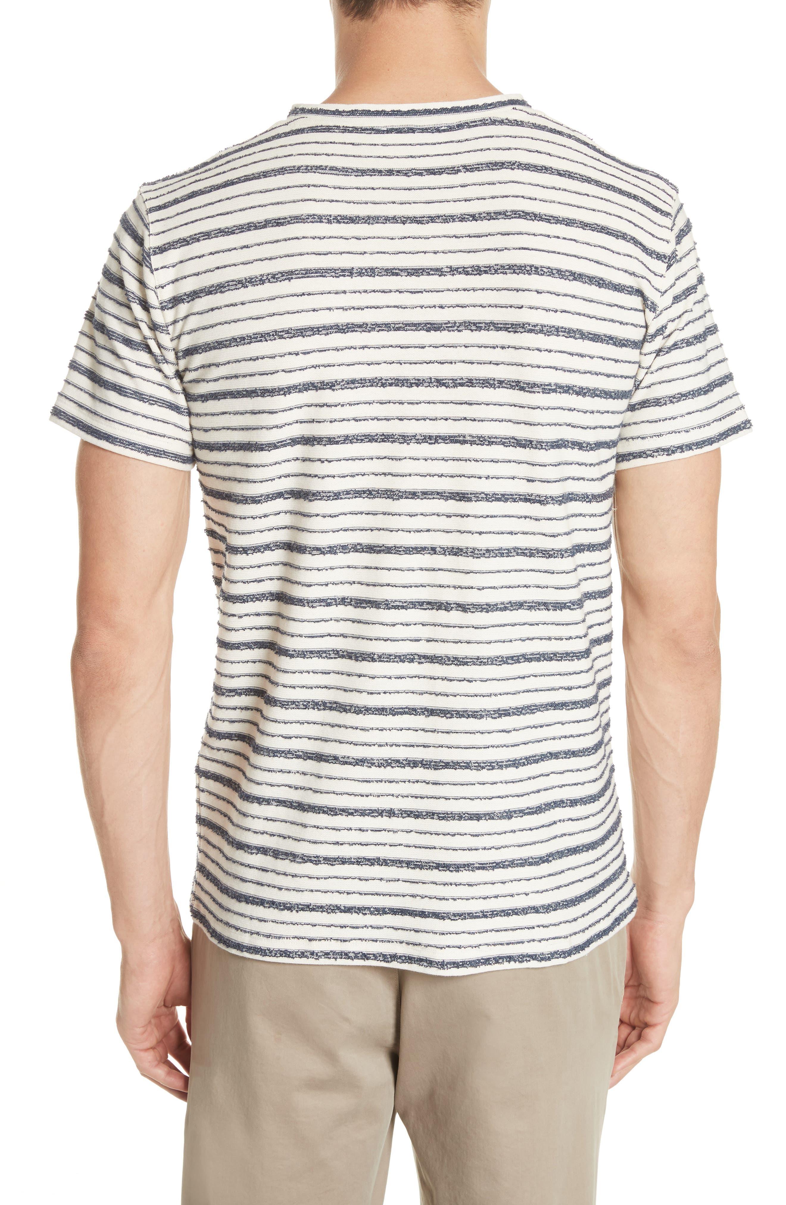 Niels Textured Stripe T-Shirt,                             Alternate thumbnail 2, color,                             DARK NAVY