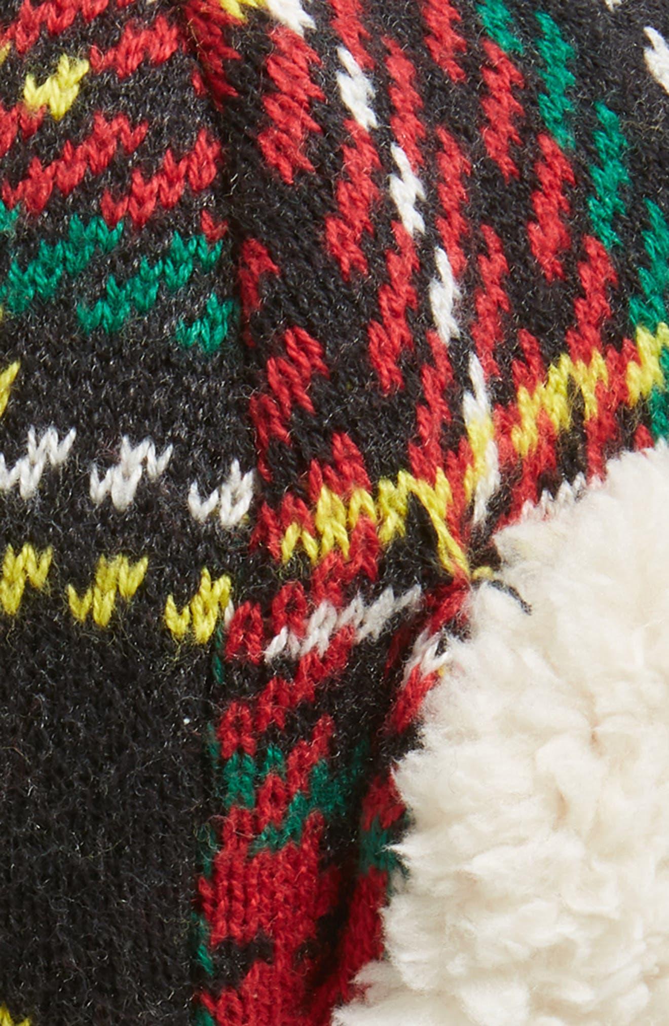 Stewart Tartan Fleece Lined Trapper Hat,                             Alternate thumbnail 2, color,                             600