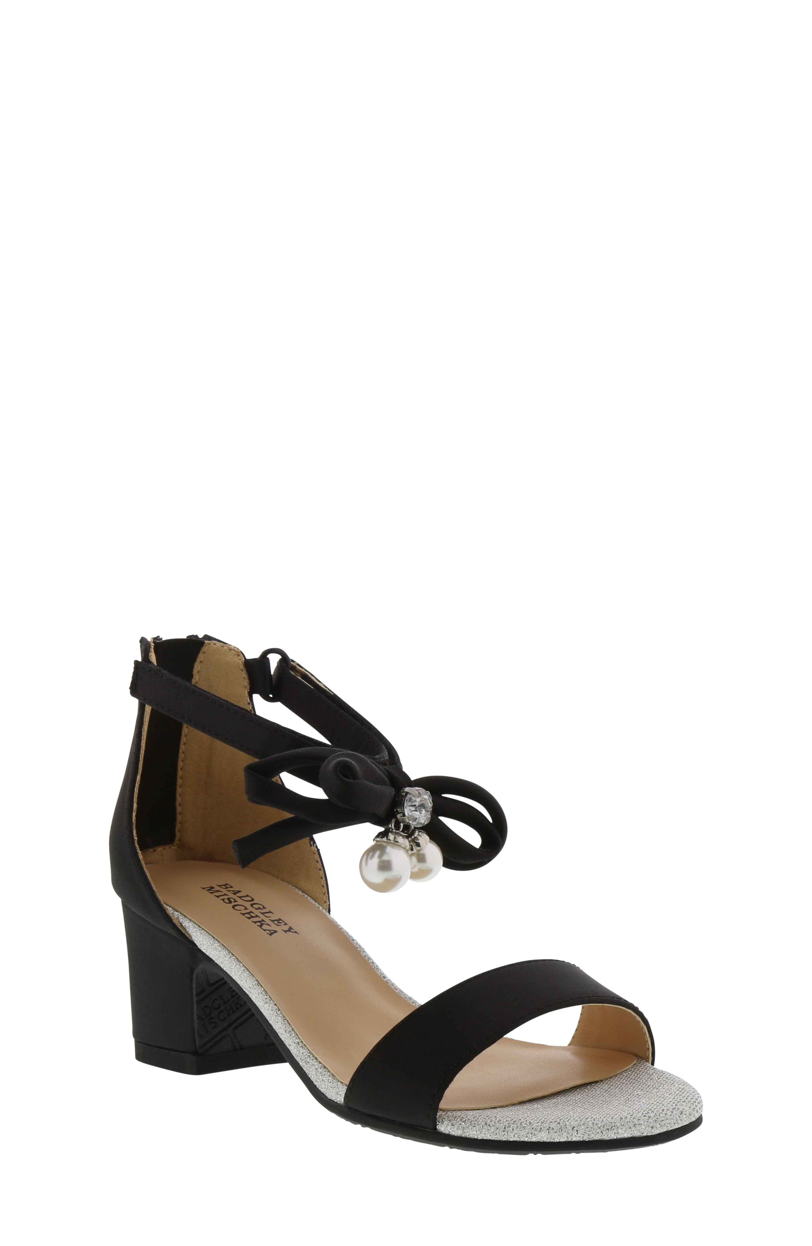 Pernia Embellished Sandal,                         Main,                         color, BLACK