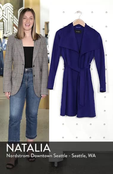 Ellie Double Face Wool Blend Wrap Coat, sales video thumbnail