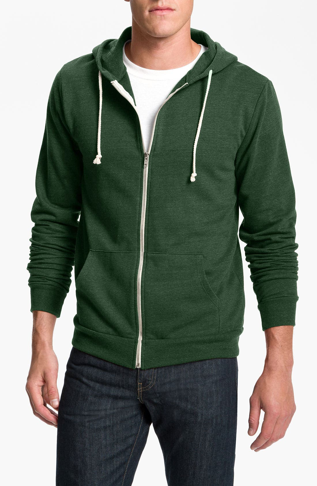Threads for Thought Trim Fit Heathered Hoodie,                             Main thumbnail 8, color,