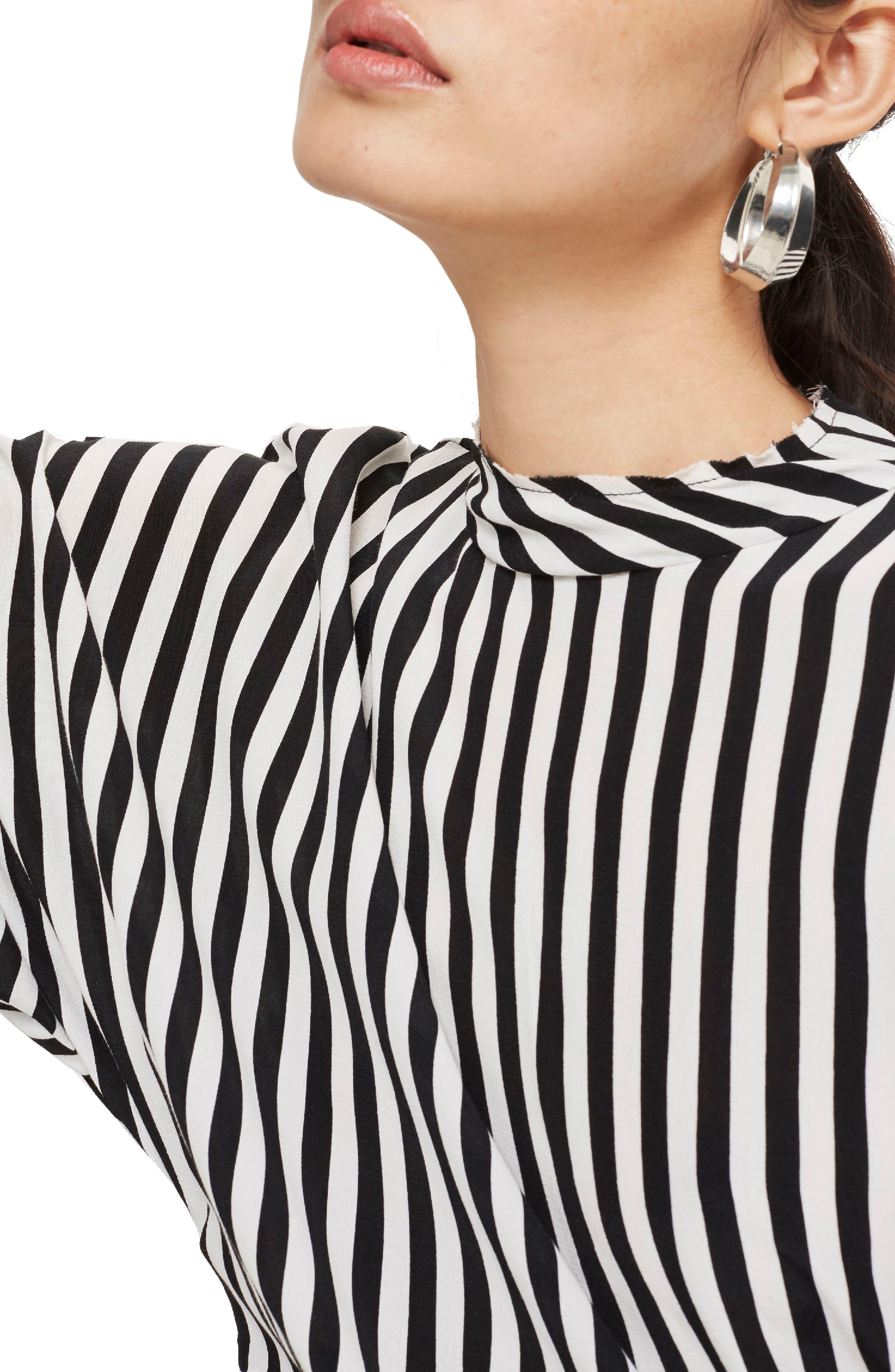 Stripe Tuck Detail Top,                             Alternate thumbnail 3, color,                             001