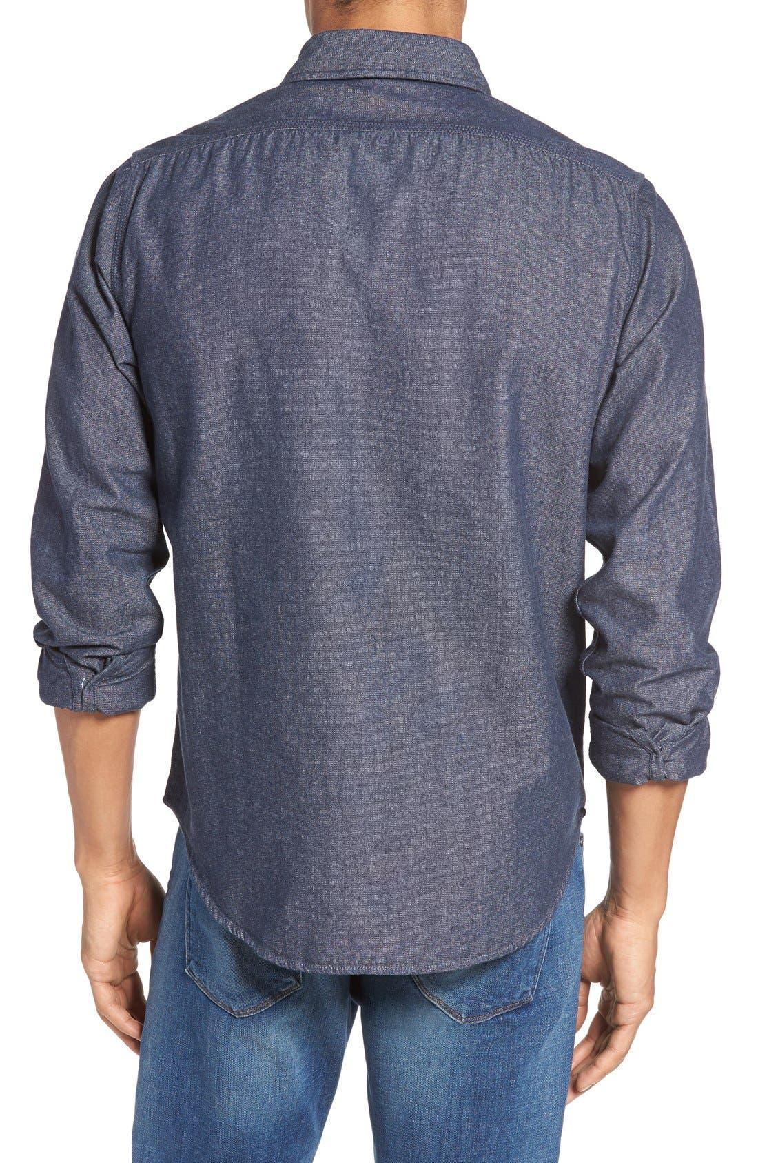 Classic Fit Sport Shirt,                             Alternate thumbnail 3, color,                             BASKET WEAVE