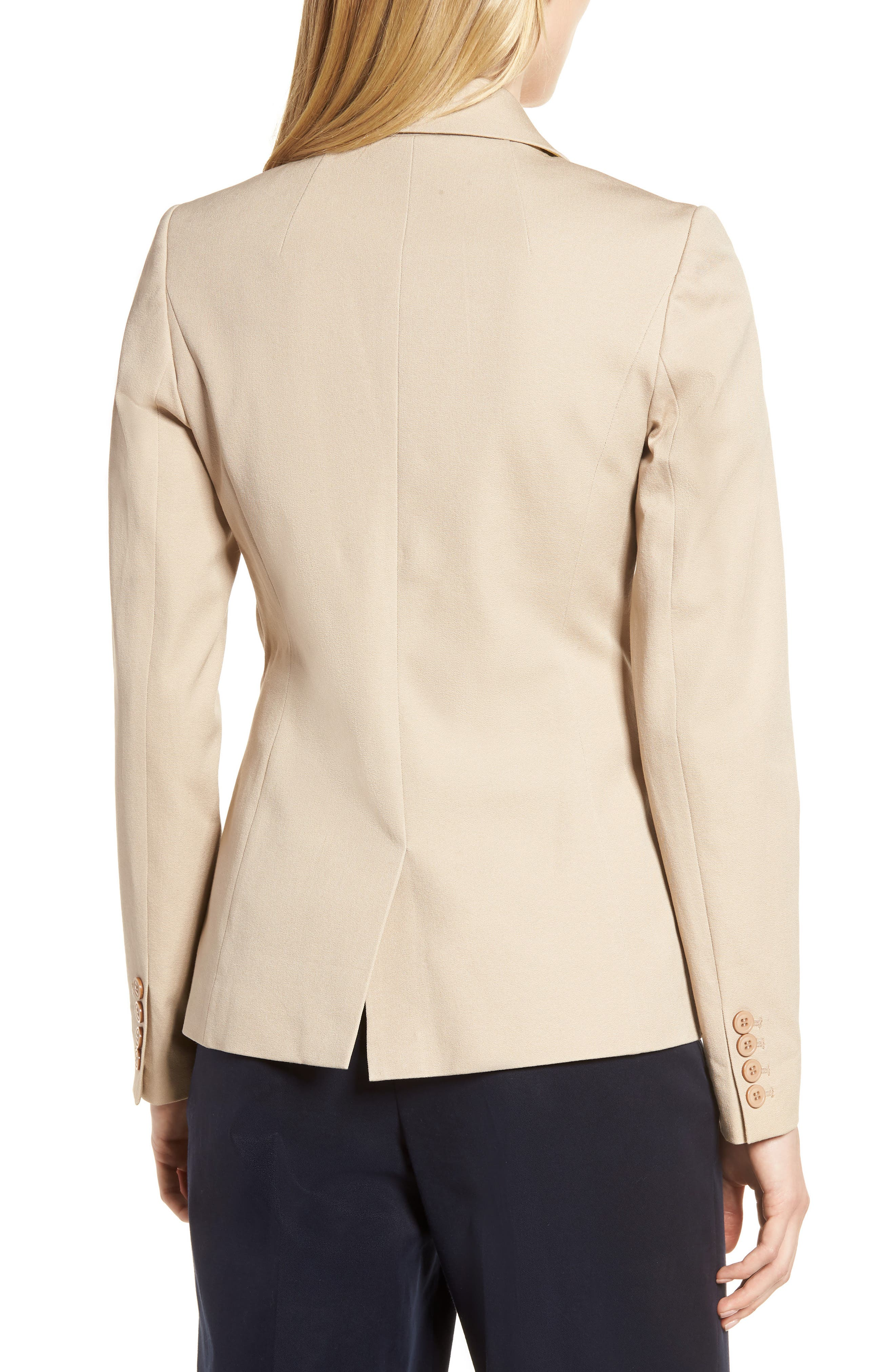 Stretch Cotton Twill Blazer,                             Alternate thumbnail 8, color,