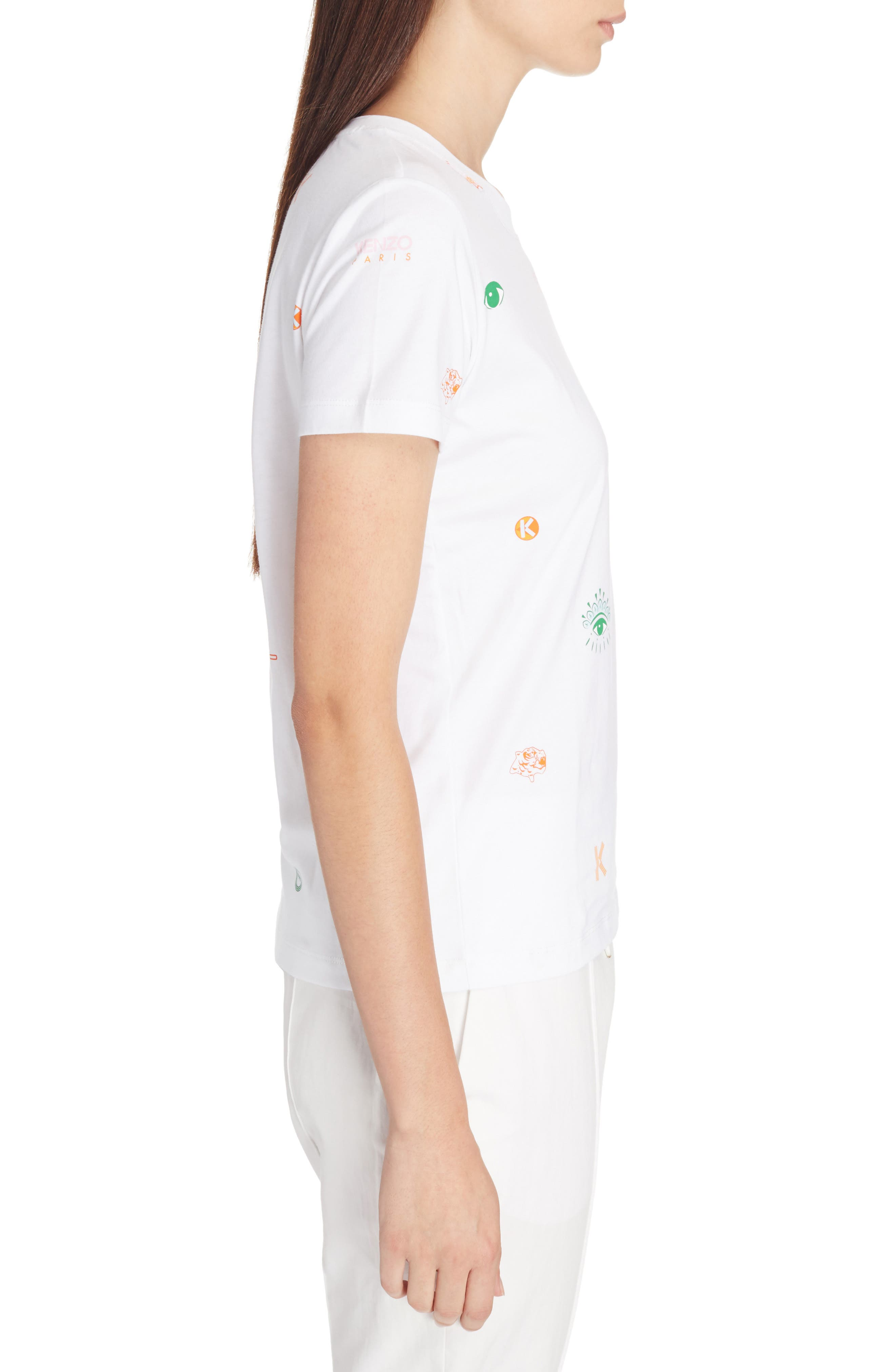 Multi Icons Graphic Tee,                             Alternate thumbnail 3, color,                             WHITE