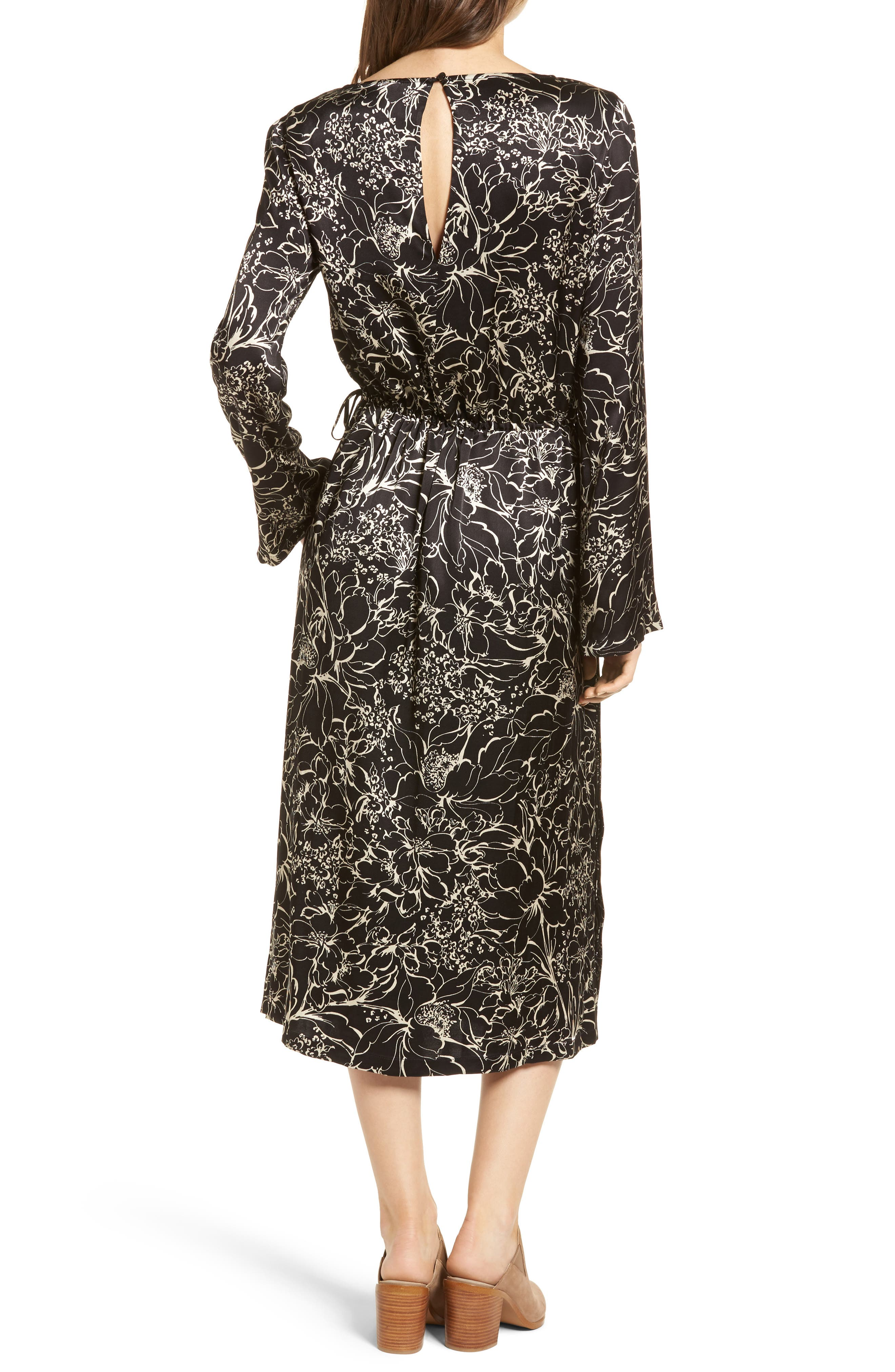 Blouson Print Dress,                             Alternate thumbnail 2, color,