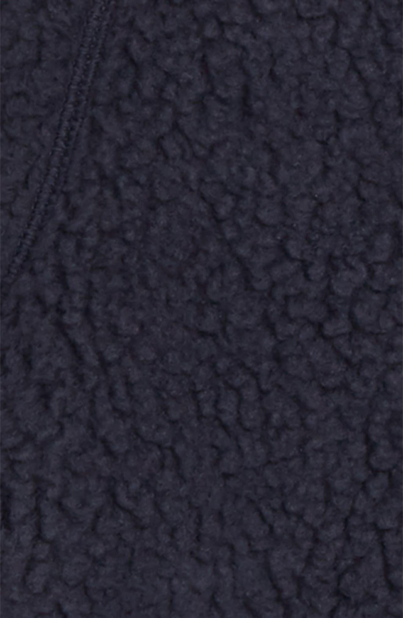 Retro Pile Faux Shearling Jacket,                             Alternate thumbnail 2, color,                             NAVY