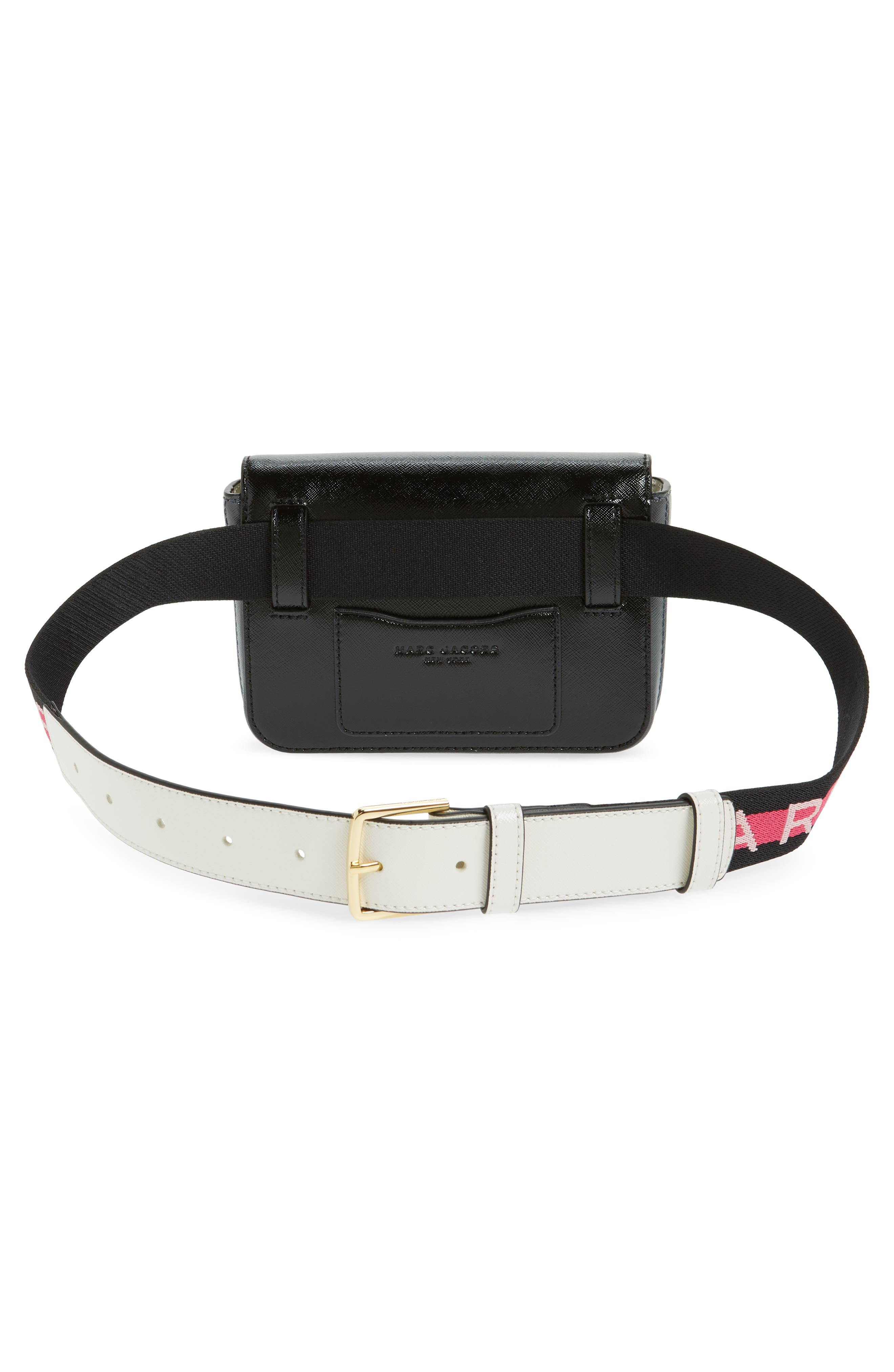 Hip Shot Convertible Leather Belt Bag,                             Alternate thumbnail 6, color,                             BLACK MULTI