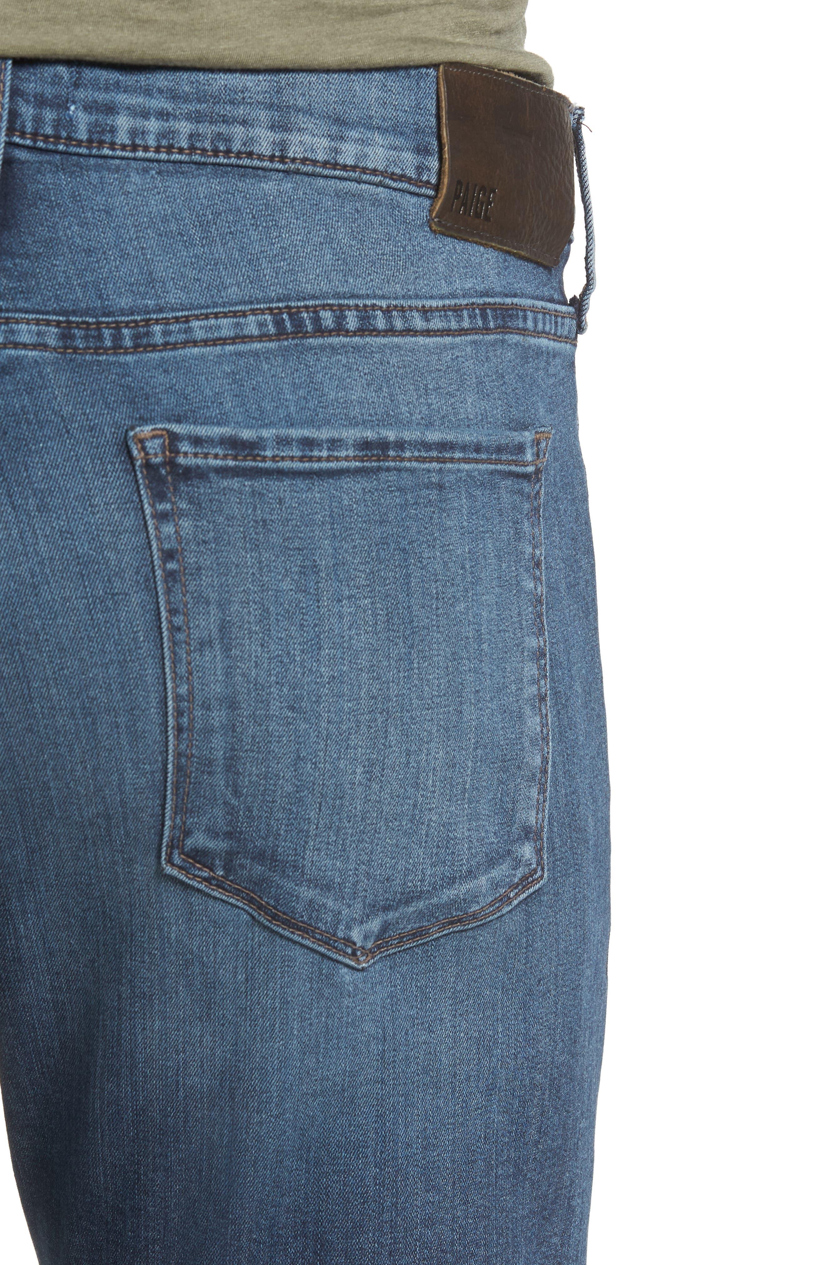 Transcend - Lennox Slim Fit Jeans,                             Alternate thumbnail 4, color,                             GRAMMERCY