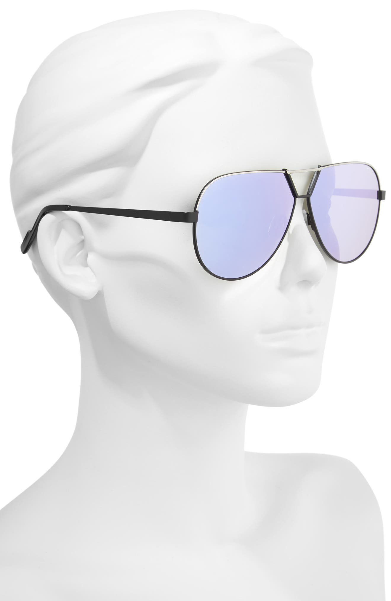Supernova 63mm Aviator Sunglasses,                             Alternate thumbnail 2, color,                             001