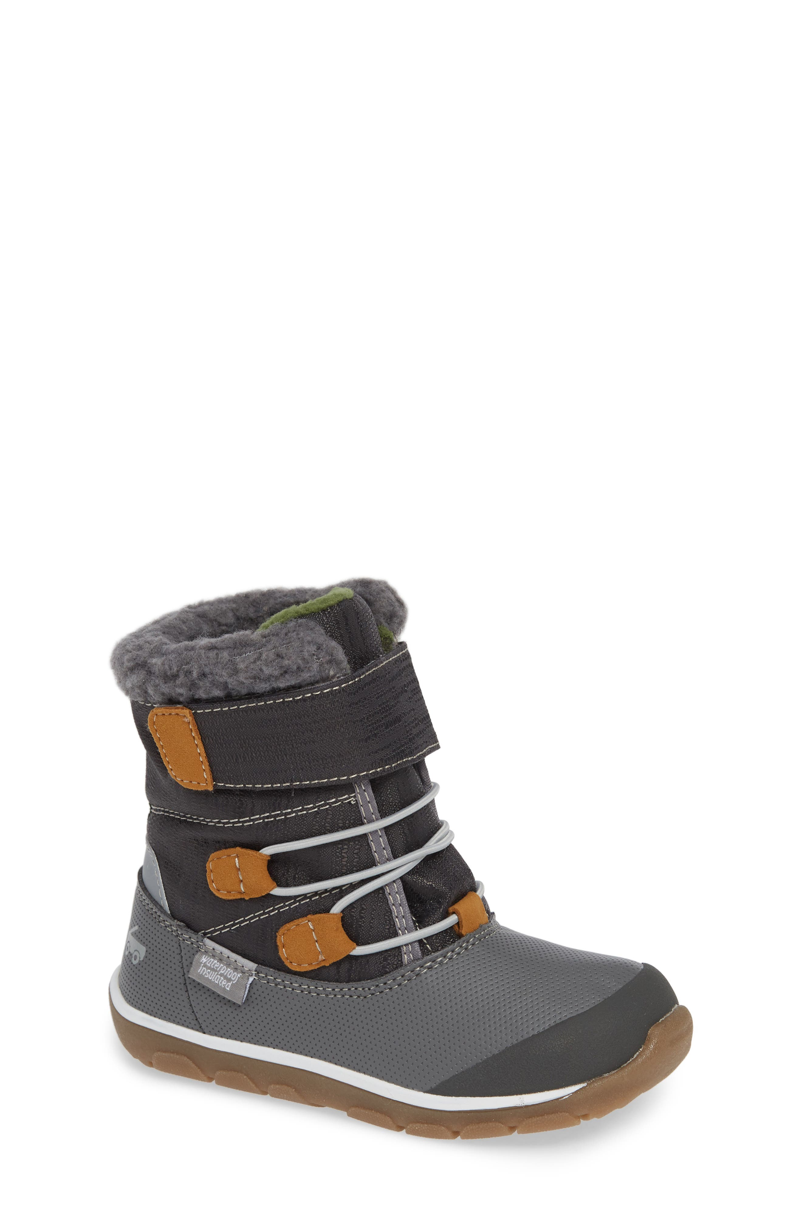 Toddler Girls See Kai Run Gilman Waterproof Insulated Boot Size 5 M  Grey