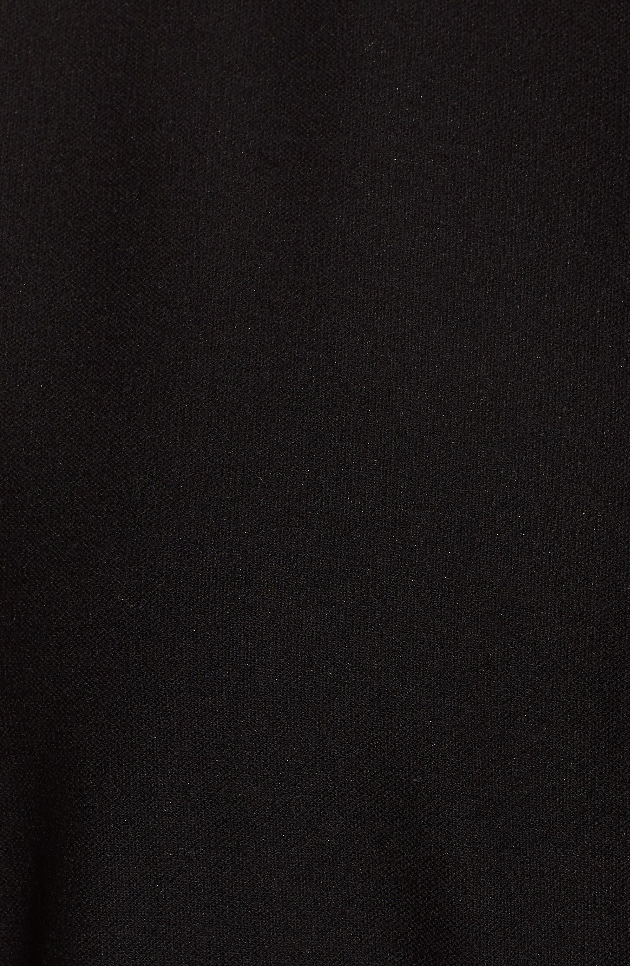 Slit Front Jersey Tunic,                             Alternate thumbnail 5, color,                             001