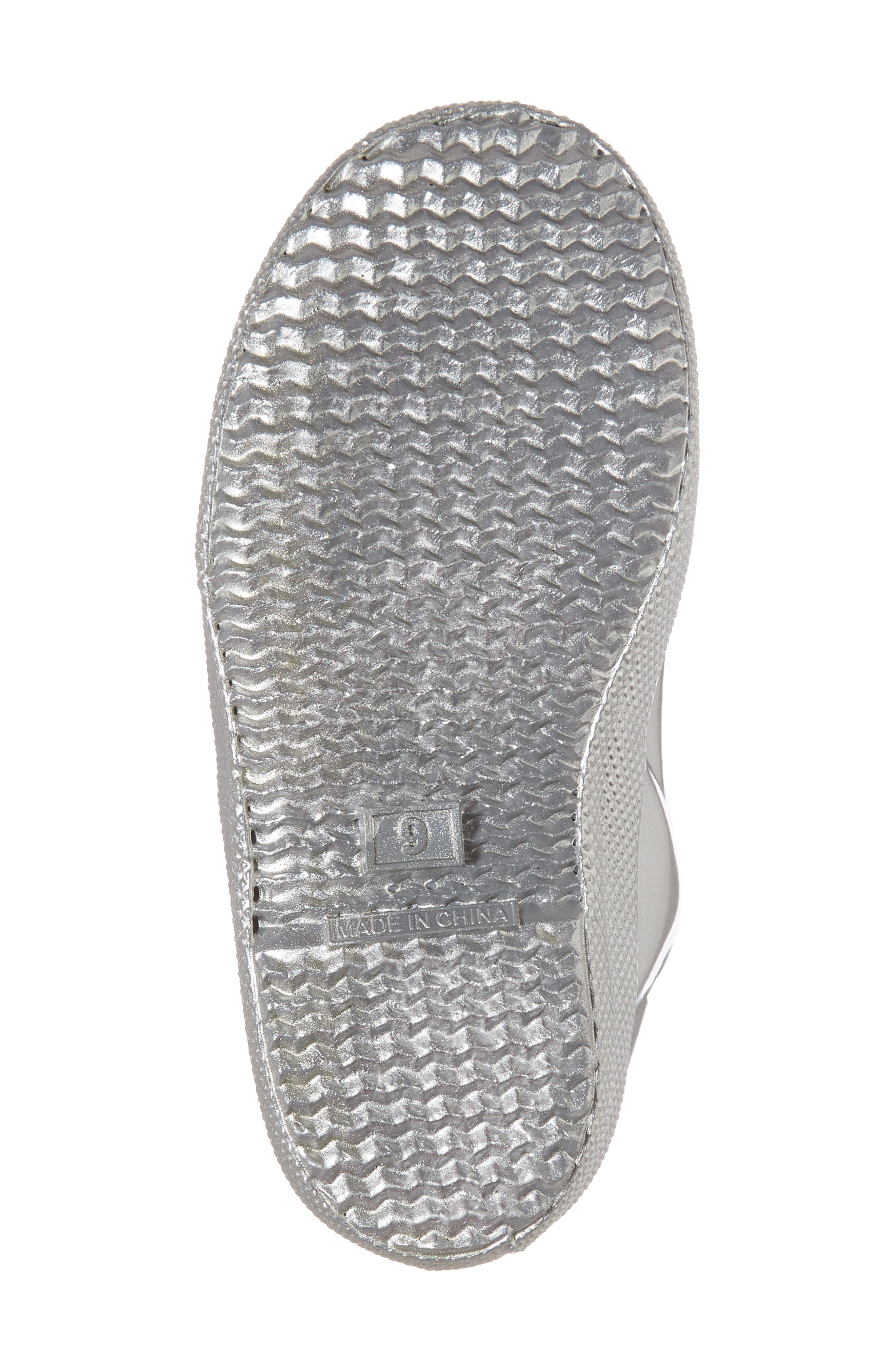 First Classic Metallic Rain Boot,                             Alternate thumbnail 6, color,                             SILVER