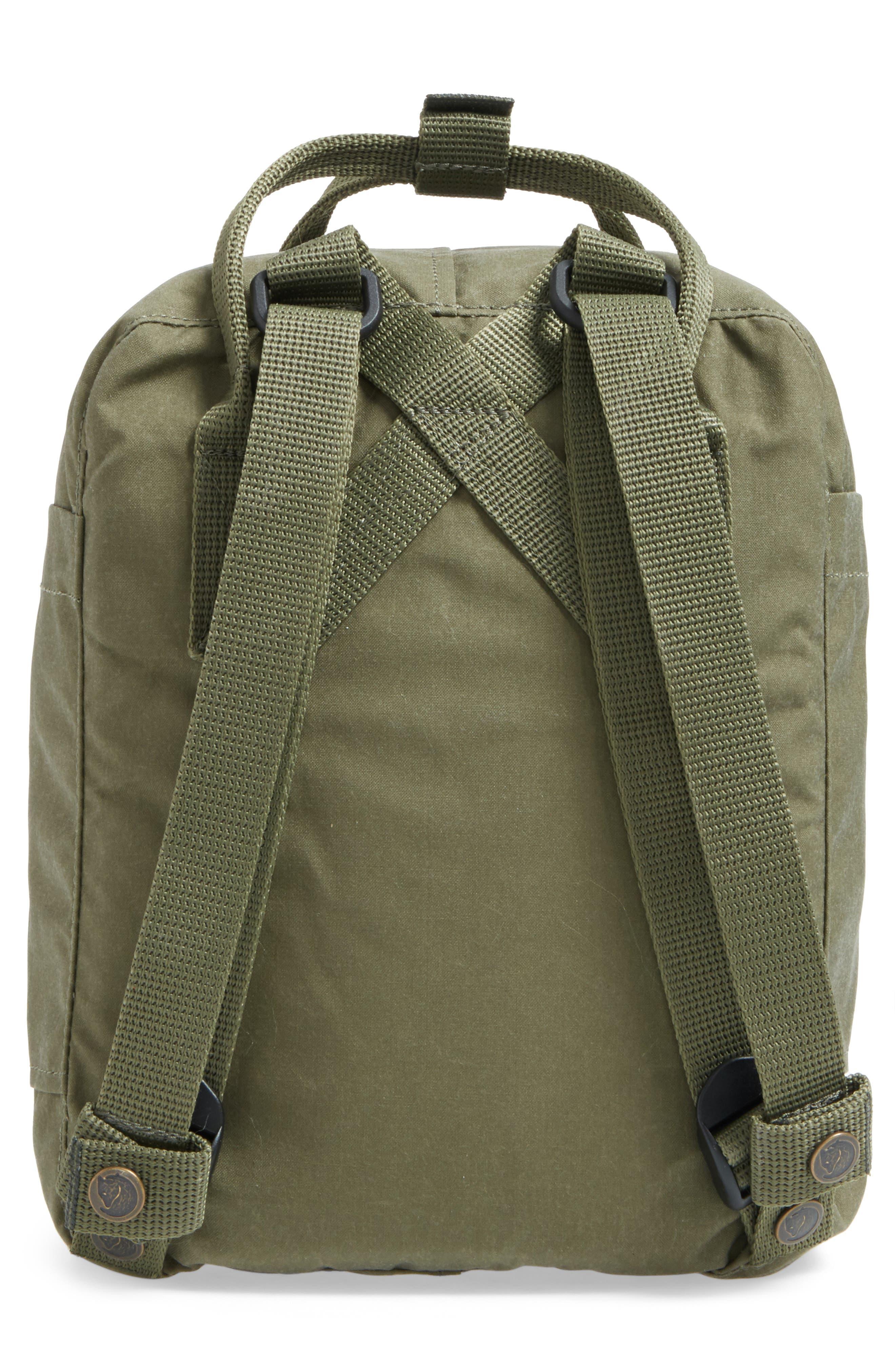 'Mini Kånken' Water Resistant Backpack,                             Alternate thumbnail 3, color,                             GREEN